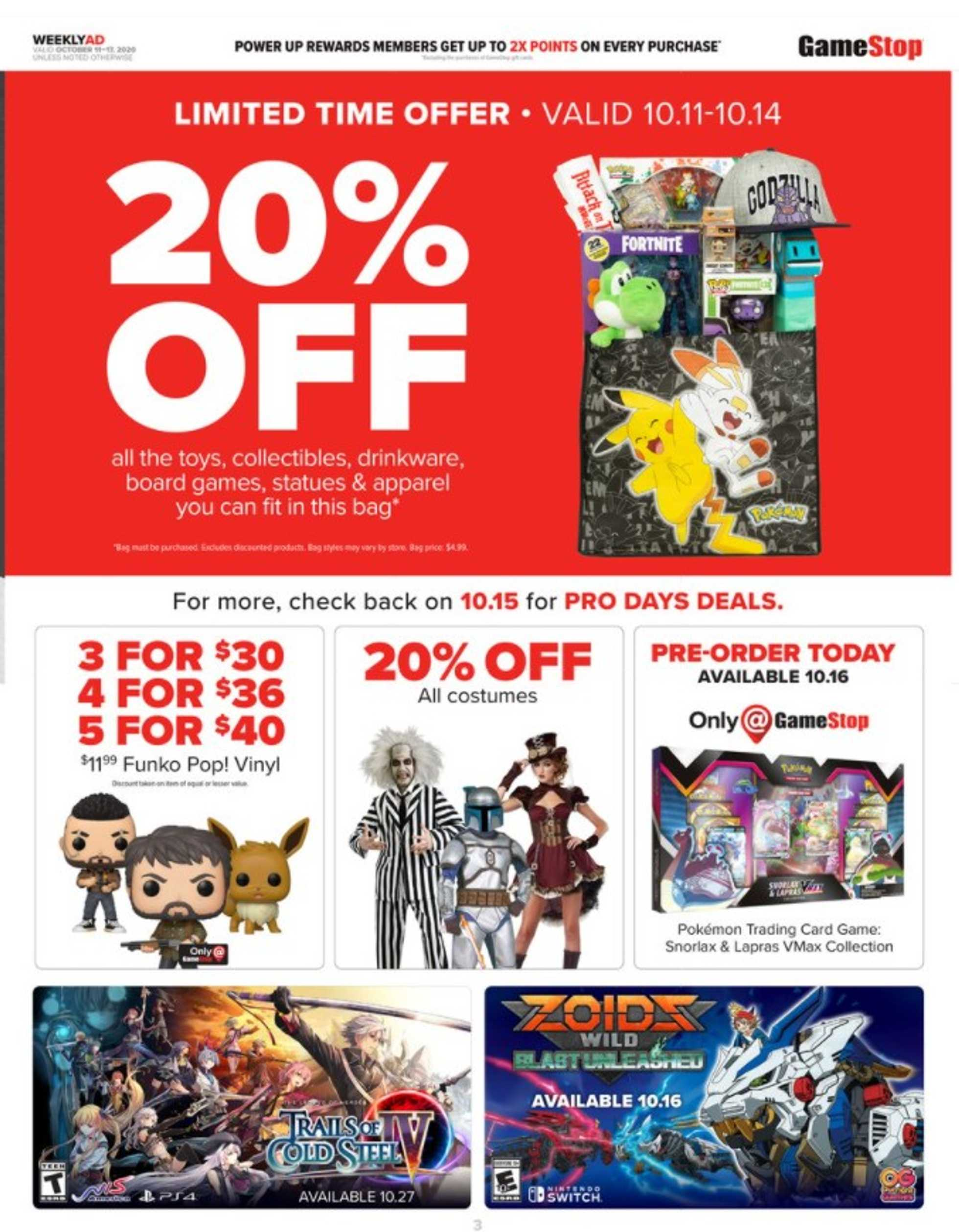 GameStop - deals are valid from 10/11/20 to 10/17/20 - page 2.