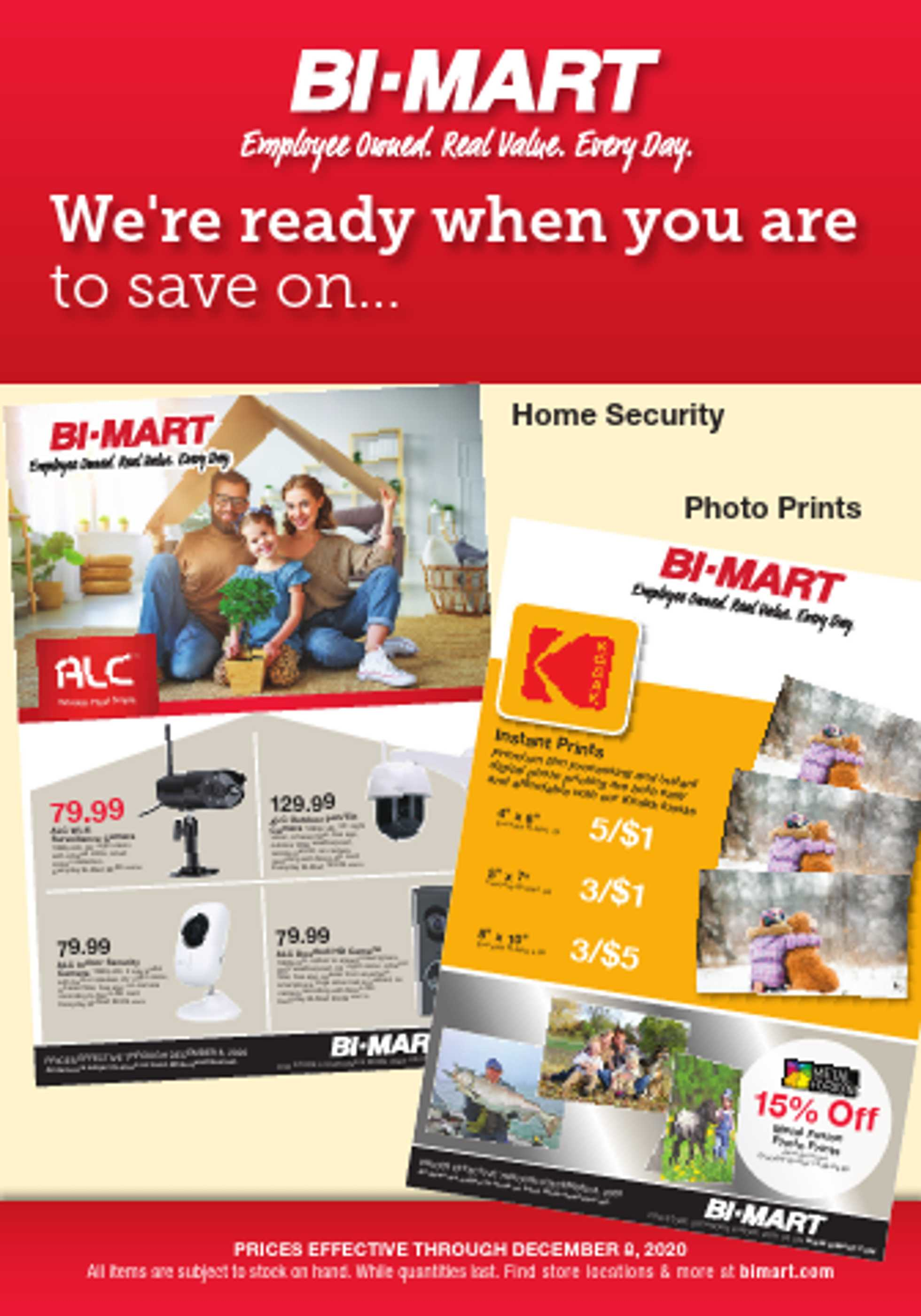 Bi-Mart - deals are valid from 11/26/20 to 12/01/20 - page 1.