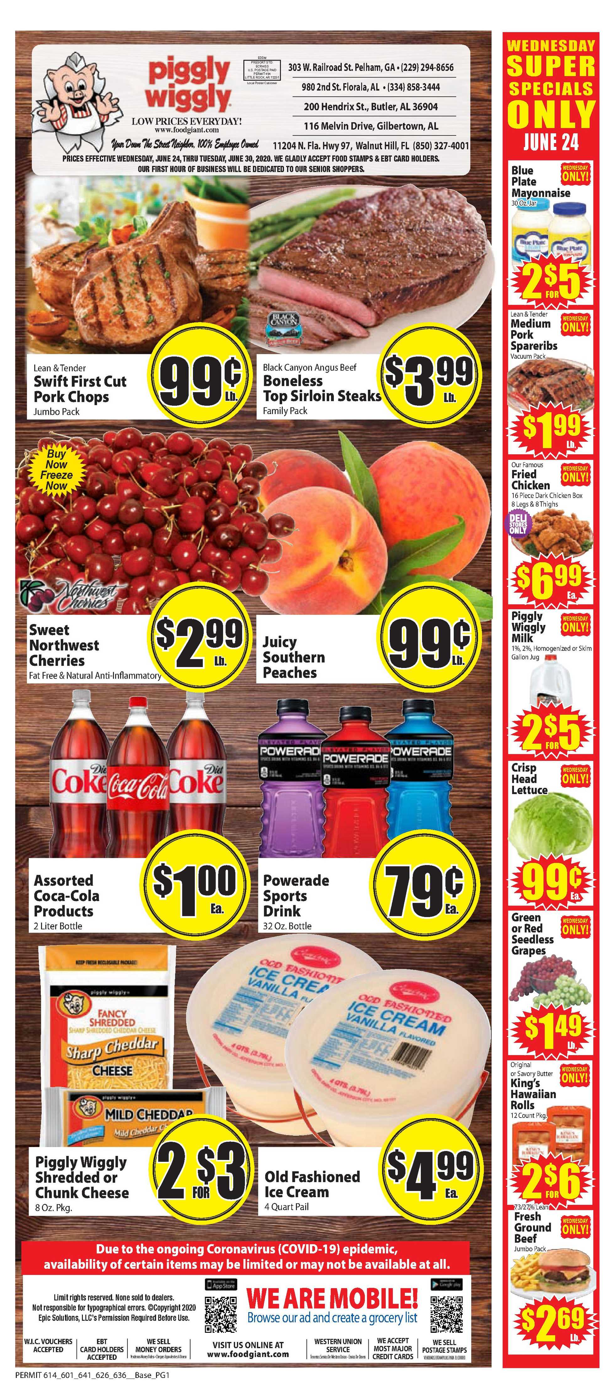Piggly Wiggly - deals are valid from 06/24/20 to 06/30/20 - page 1.
