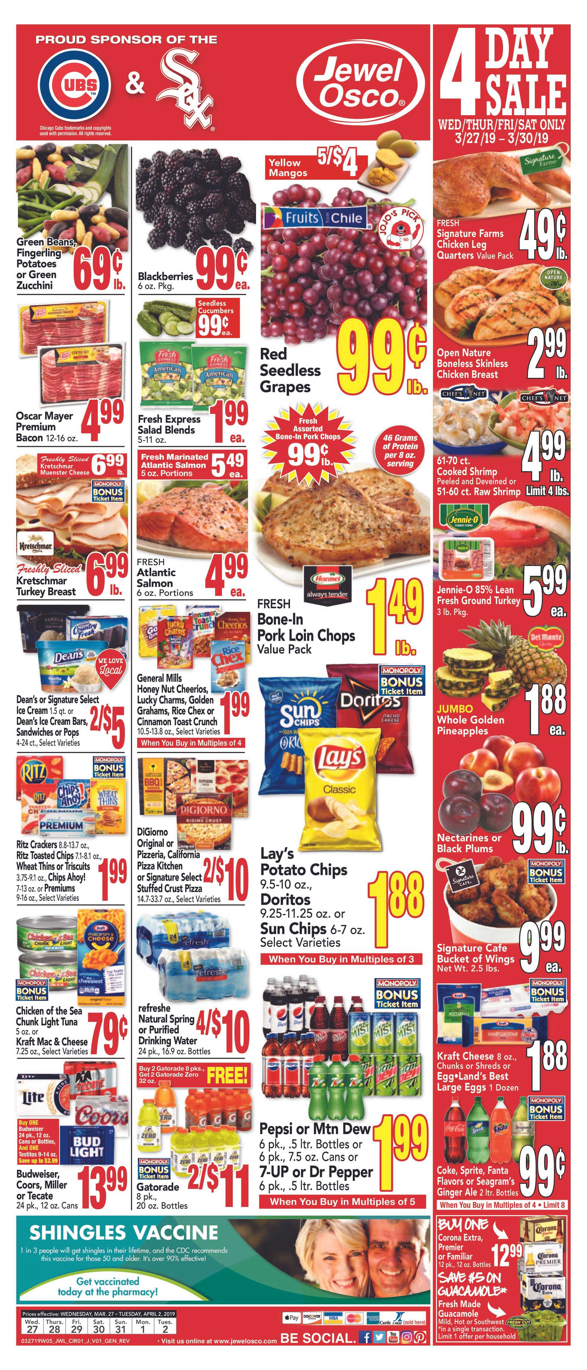 Jewel Osco - deals are valid from 03/27/19 to 04/02/19 - page 3.