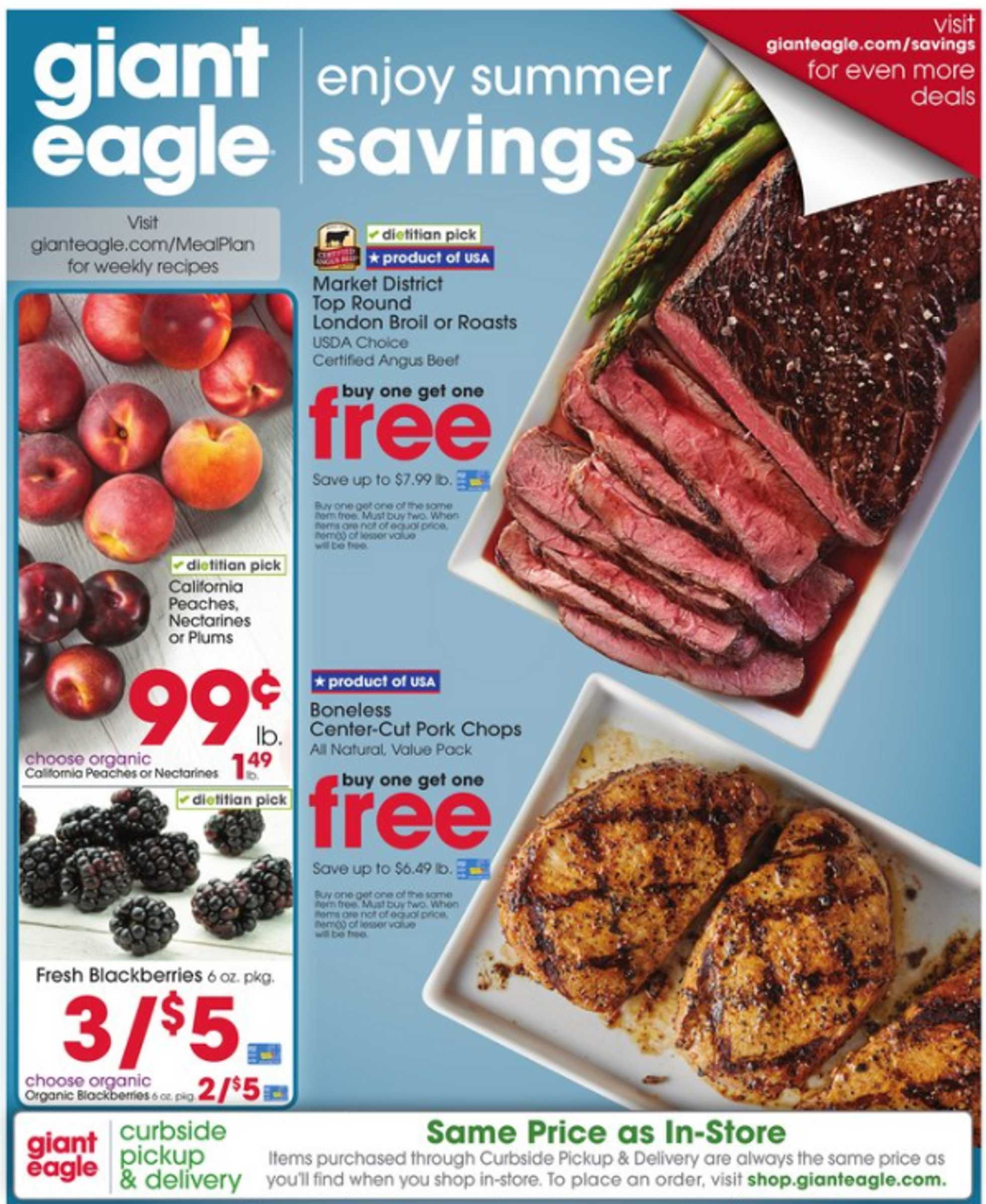 Giant Eagle - deals are valid from 08/13/20 to 08/19/20 - page 1.