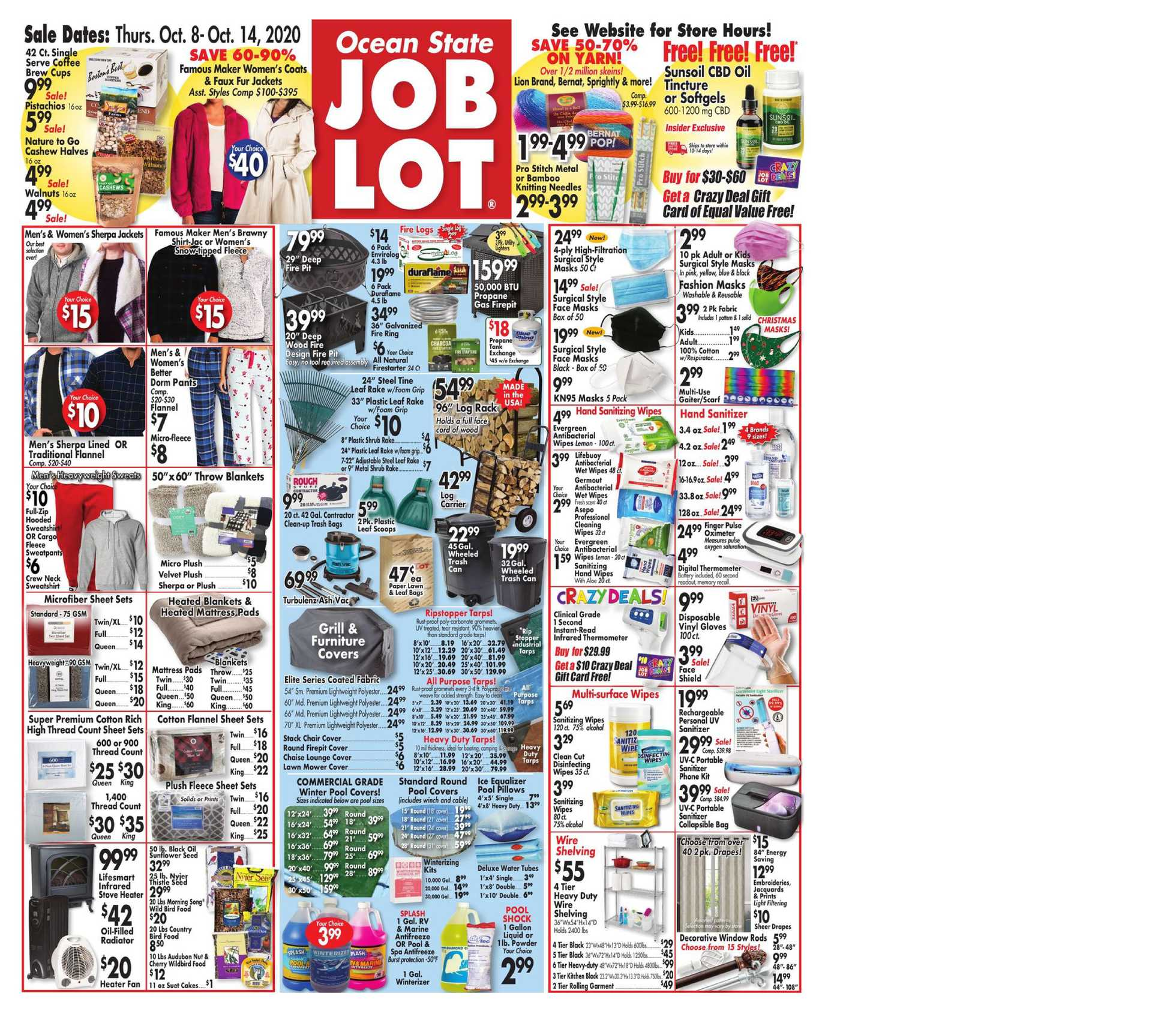 Ocean State Job Lot - deals are valid from 10/08/20 to 10/14/20 - page 1.