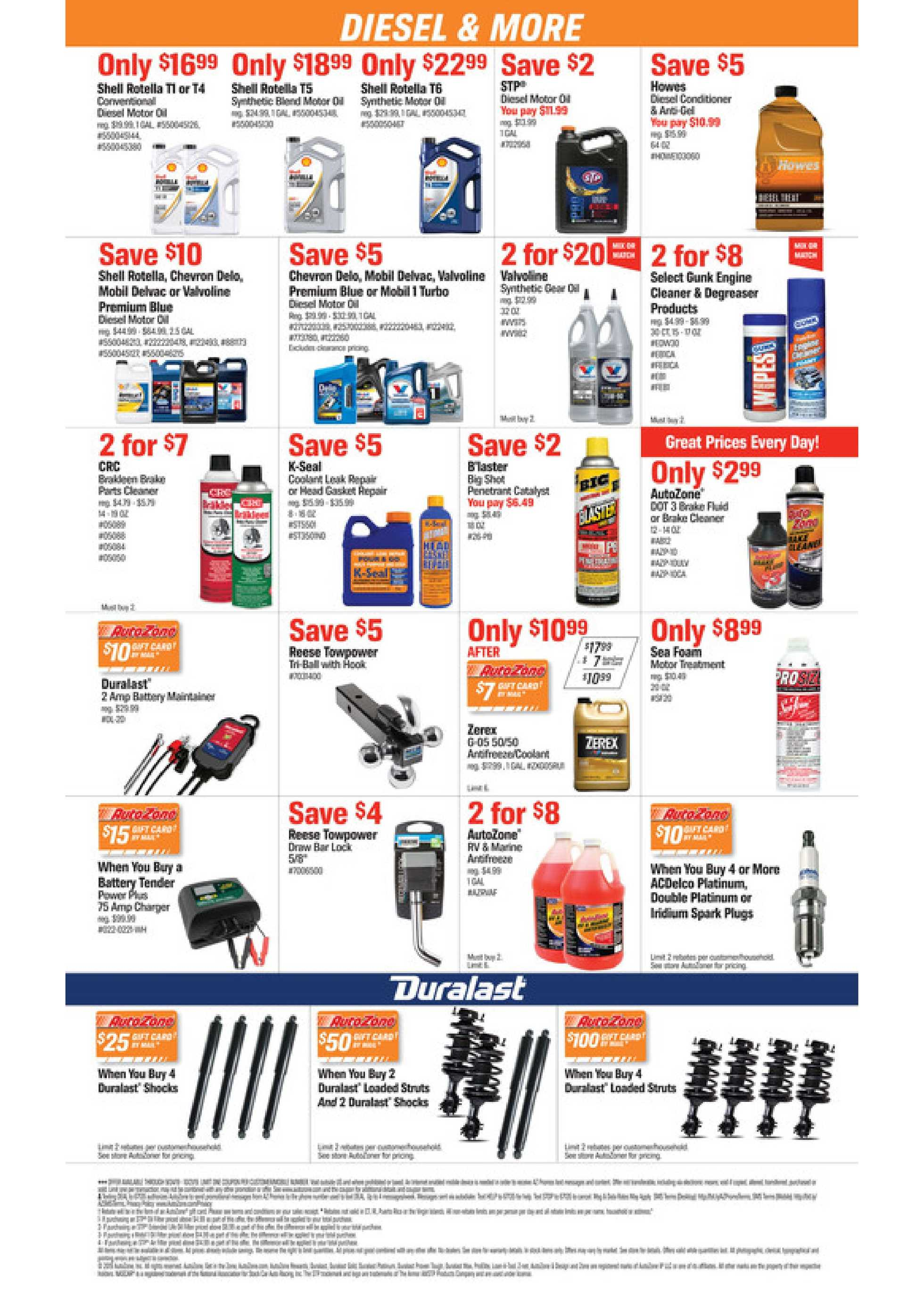 AutoZone - deals are valid from 09/24/19 to 10/21/19 - page 2.