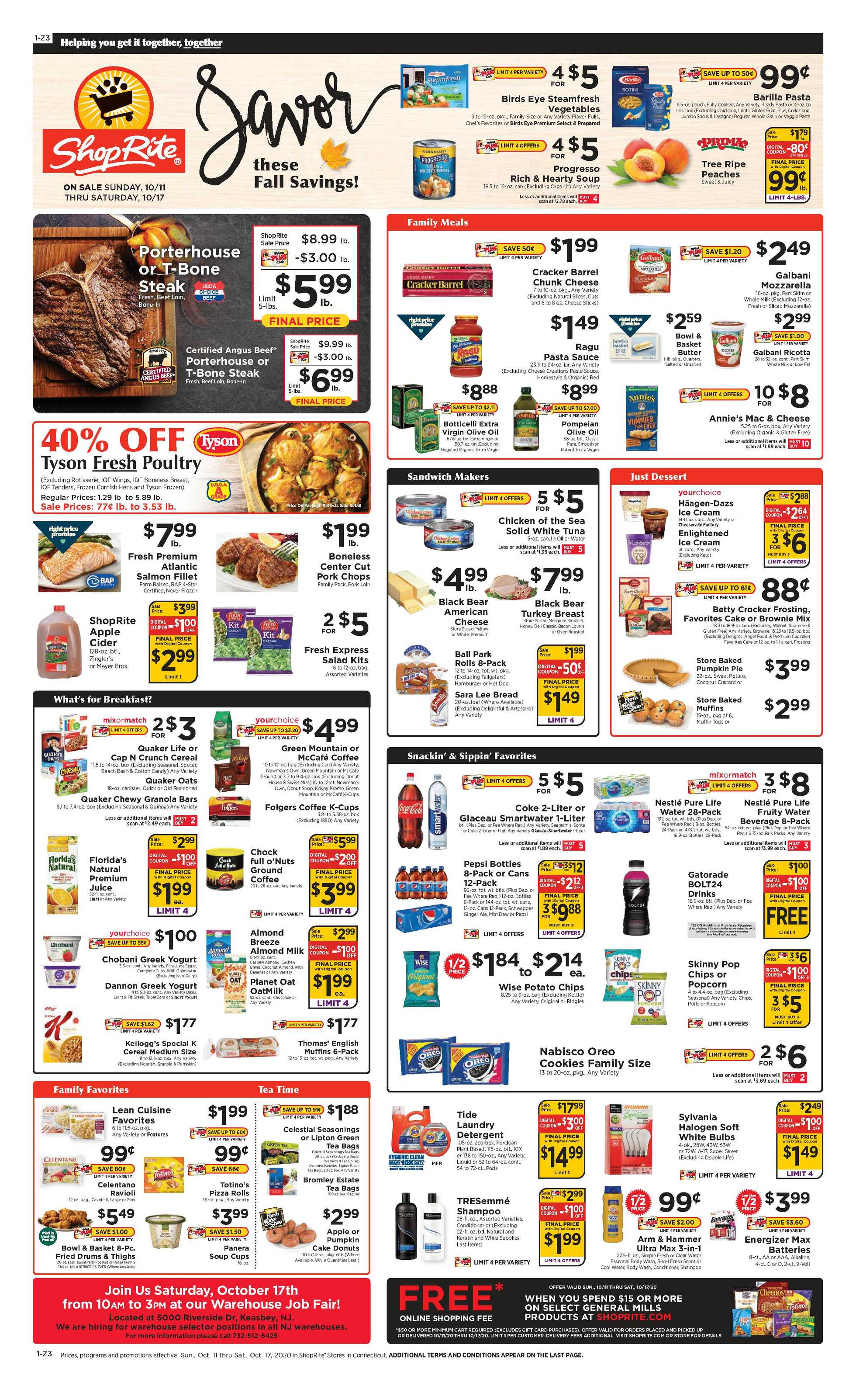 Family Fresh Market - deals are valid from 10/11/20 to 10/17/20 - page 1.