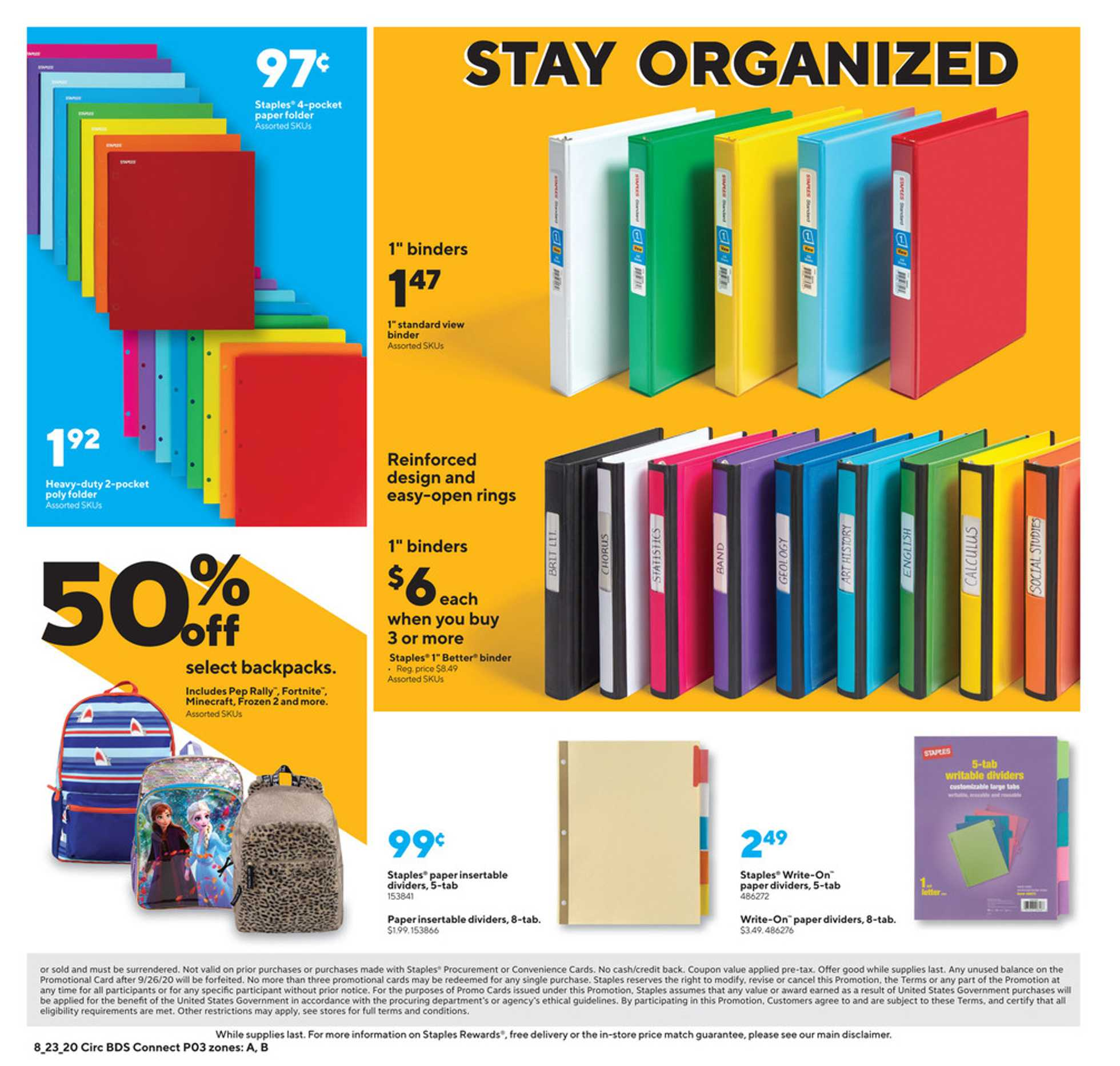 Staples - deals are valid from 08/23/20 to 08/29/20 - page 3.