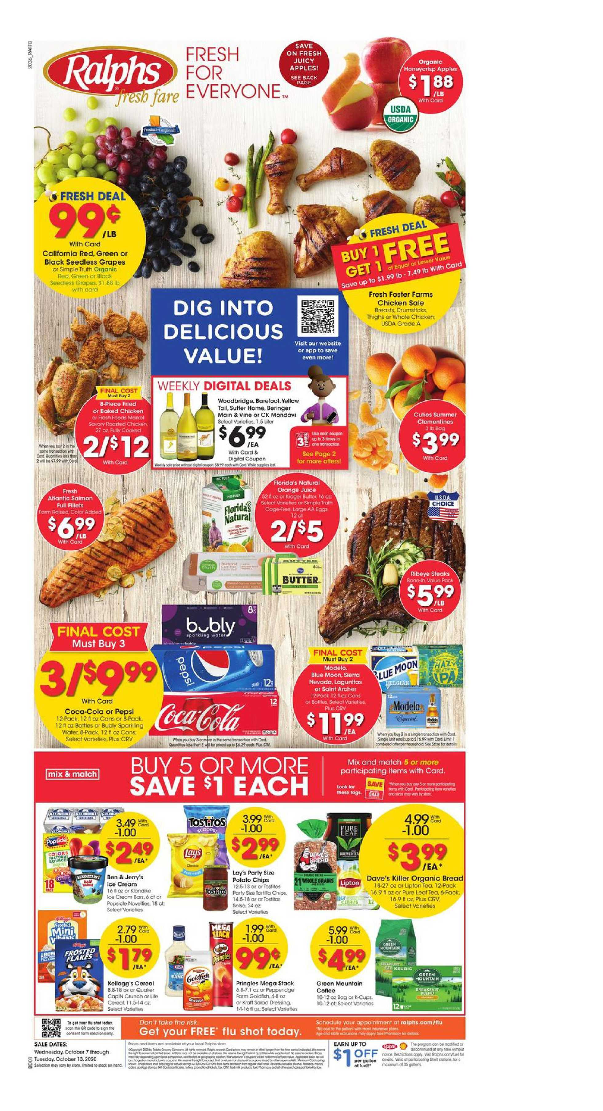 Ralphs - deals are valid from 10/07/20 to 10/13/20 - page 1.