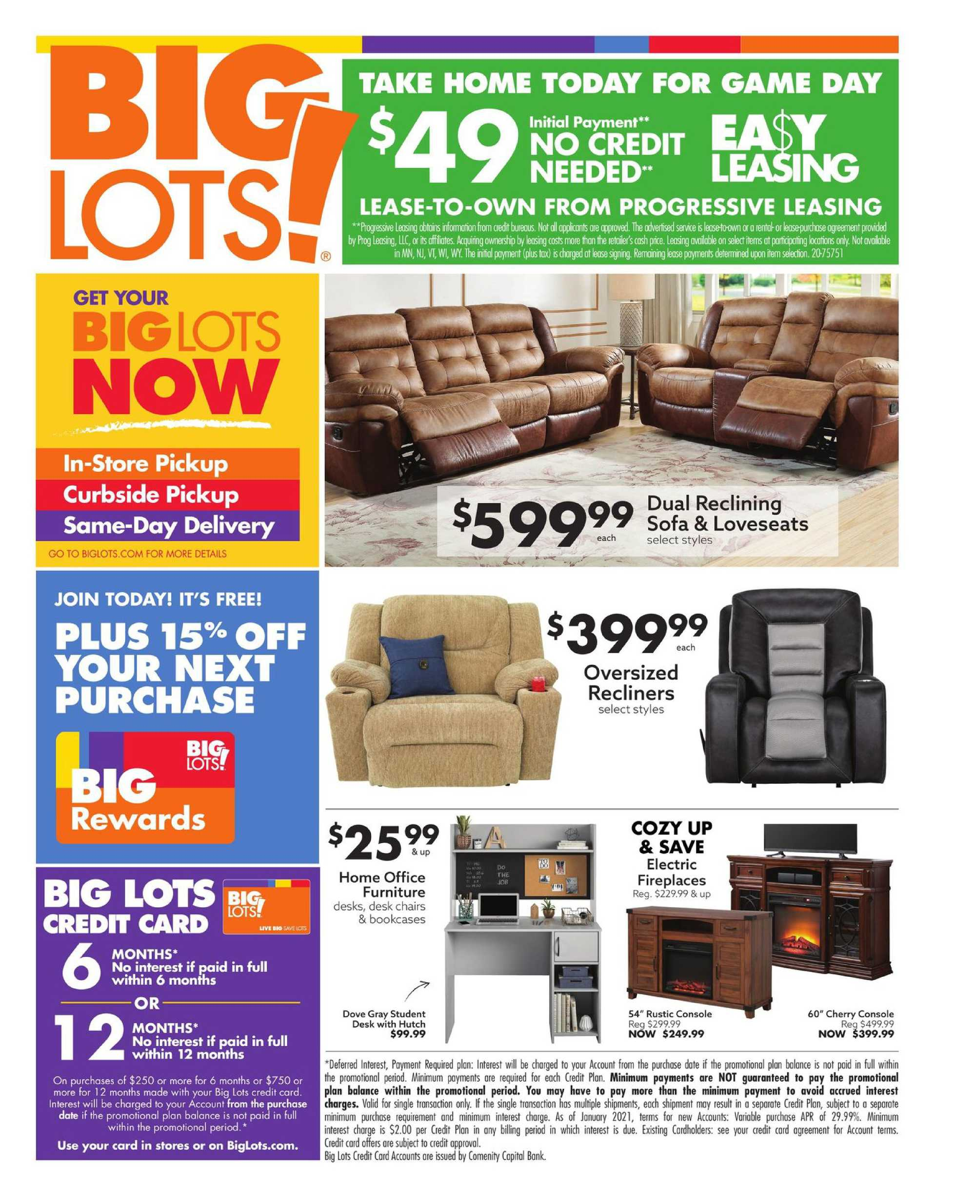 Big Lots - deals are valid from 01/24/21 to 01/31/21 - page 1.