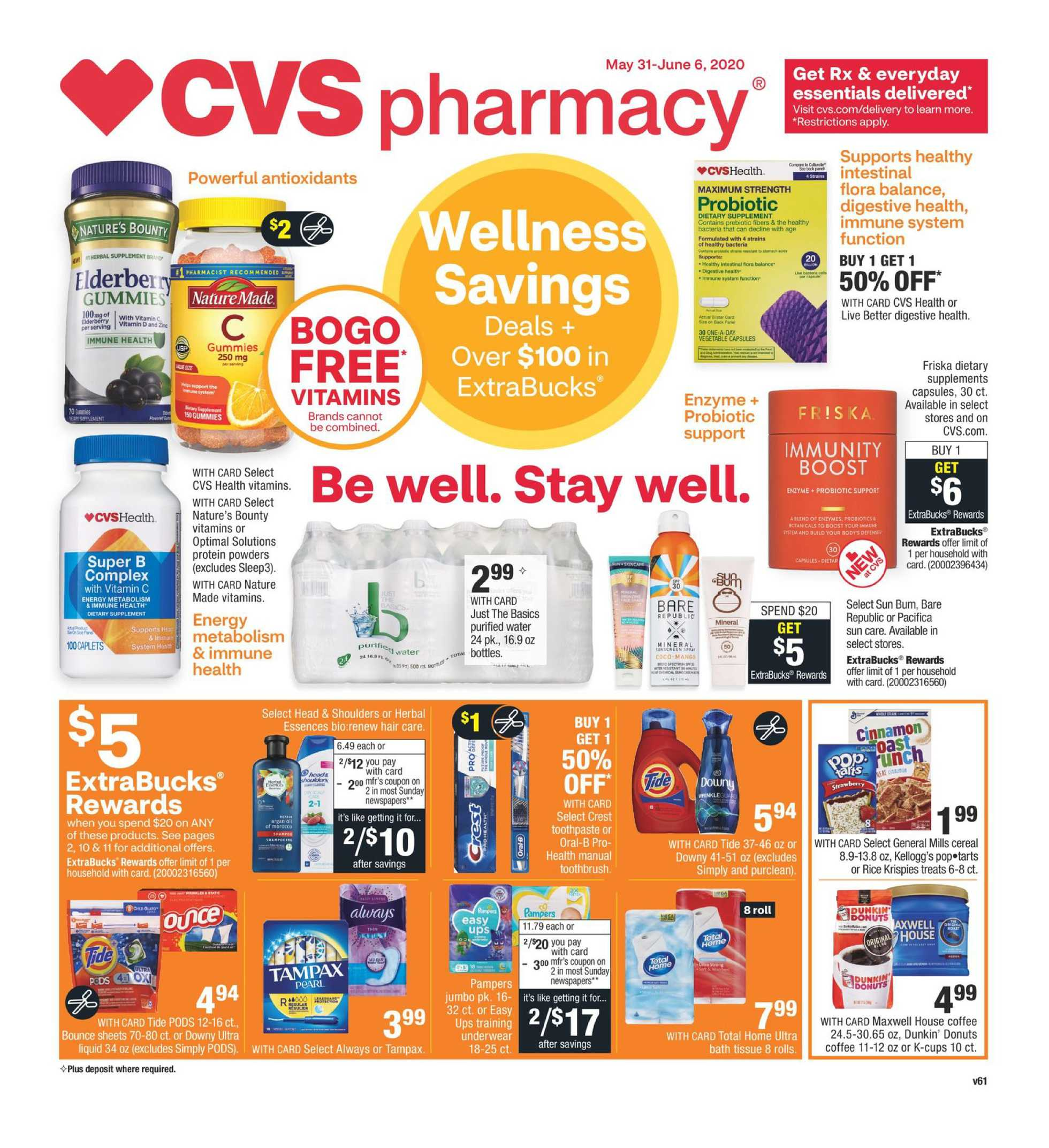 CVS - deals are valid from 05/31/20 to 06/06/20 - page 1.
