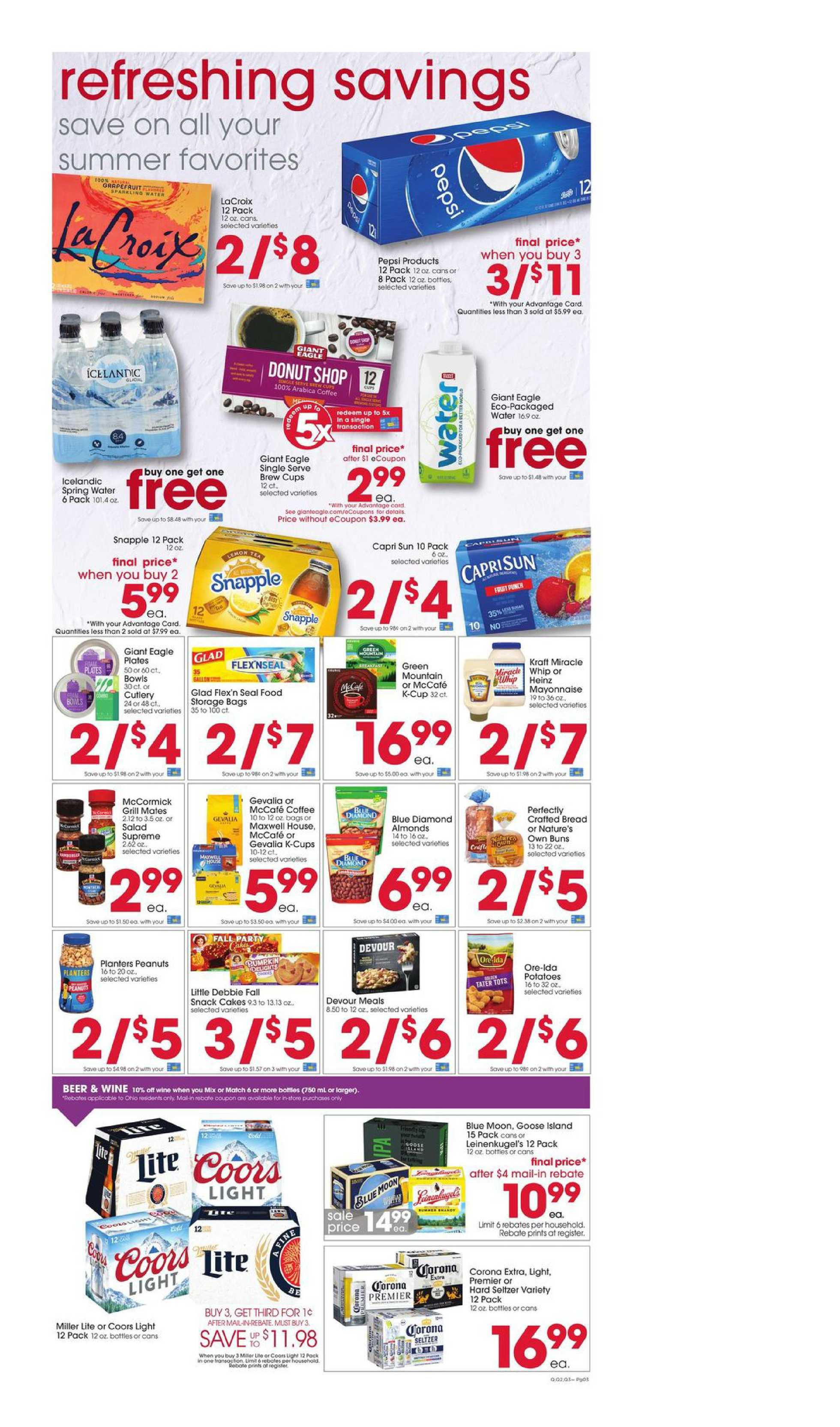 Giant Eagle - deals are valid from 09/03/20 to 09/09/20 - page 3.
