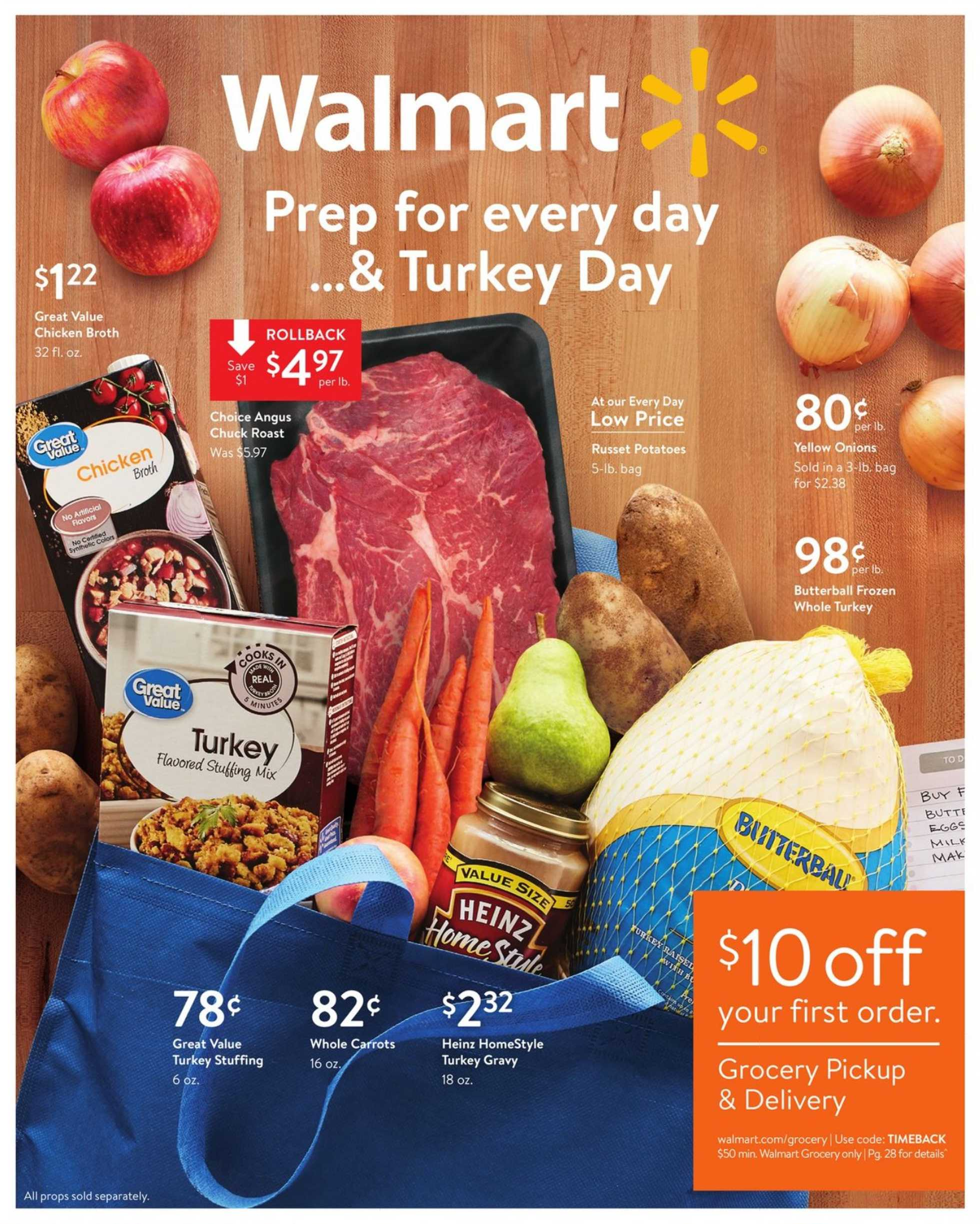 Walmart - deals are valid from 11/01/19 to 11/16/19 - page 1.