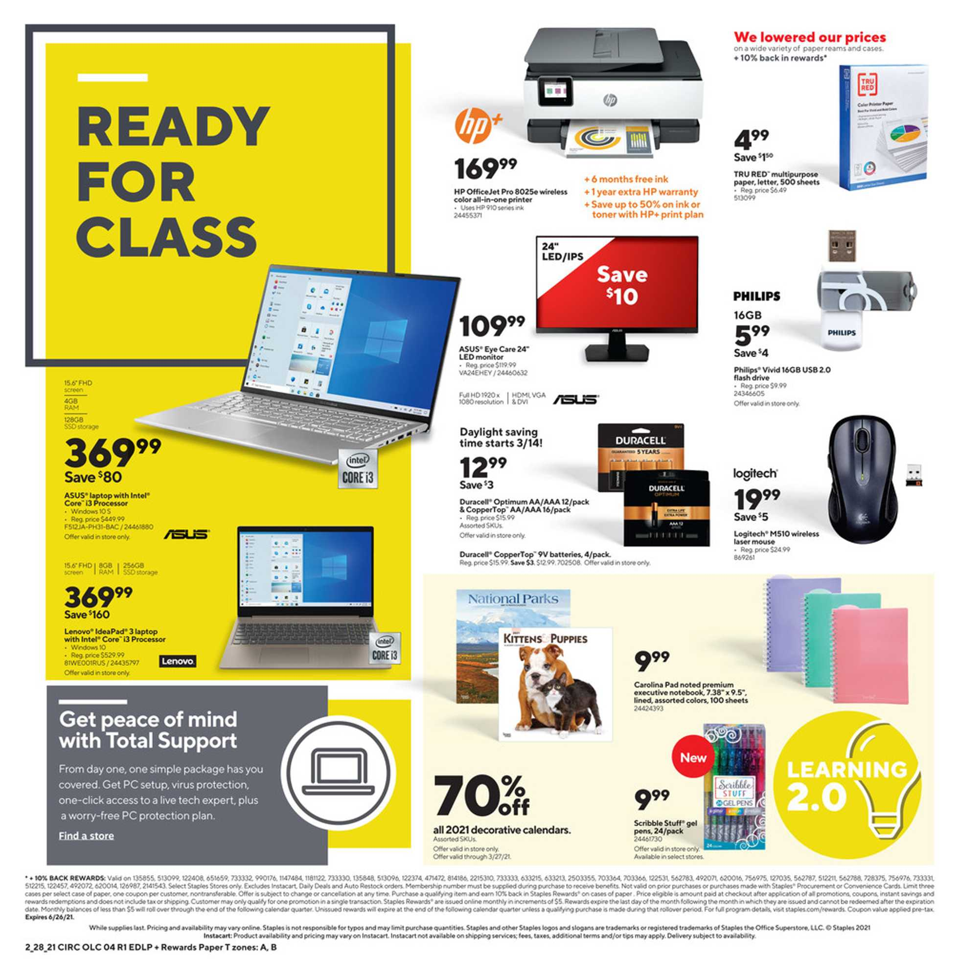 Staples - deals are valid from 02/28/21 to 03/06/21 - page 4.