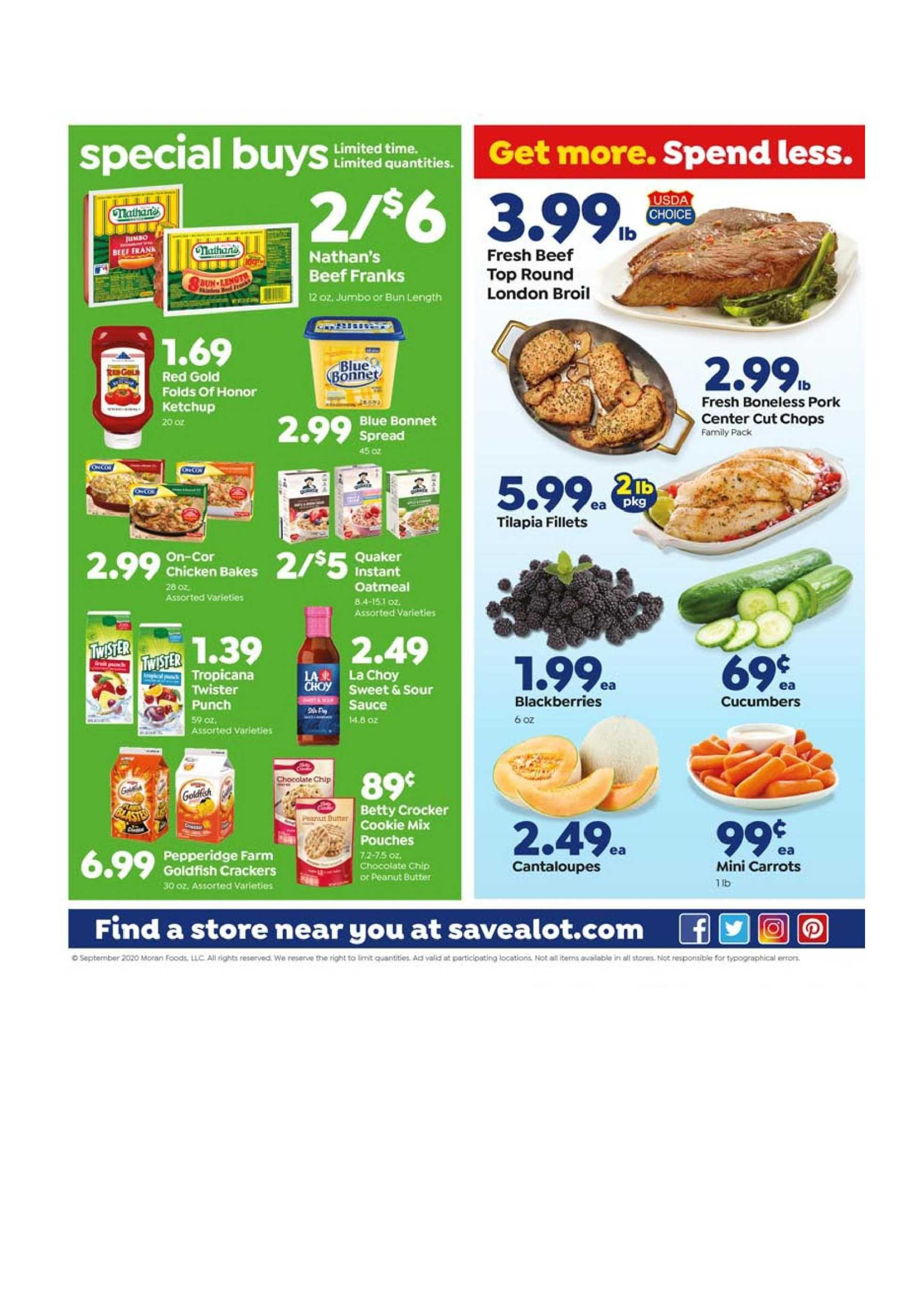 Save-A-Lot - deals are valid from 09/16/20 to 09/22/20 - page 3.