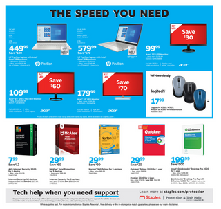 Staples - deals are valid from 08/09/20 to 08/15/20 - page 8.