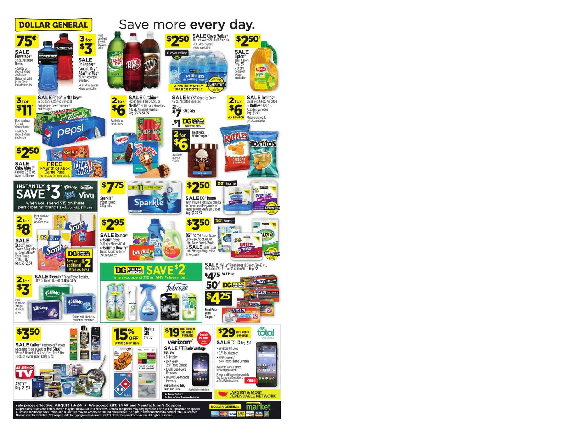 Dollar General - promo starting from 08/18/19 to 08/24/19 - page 4.