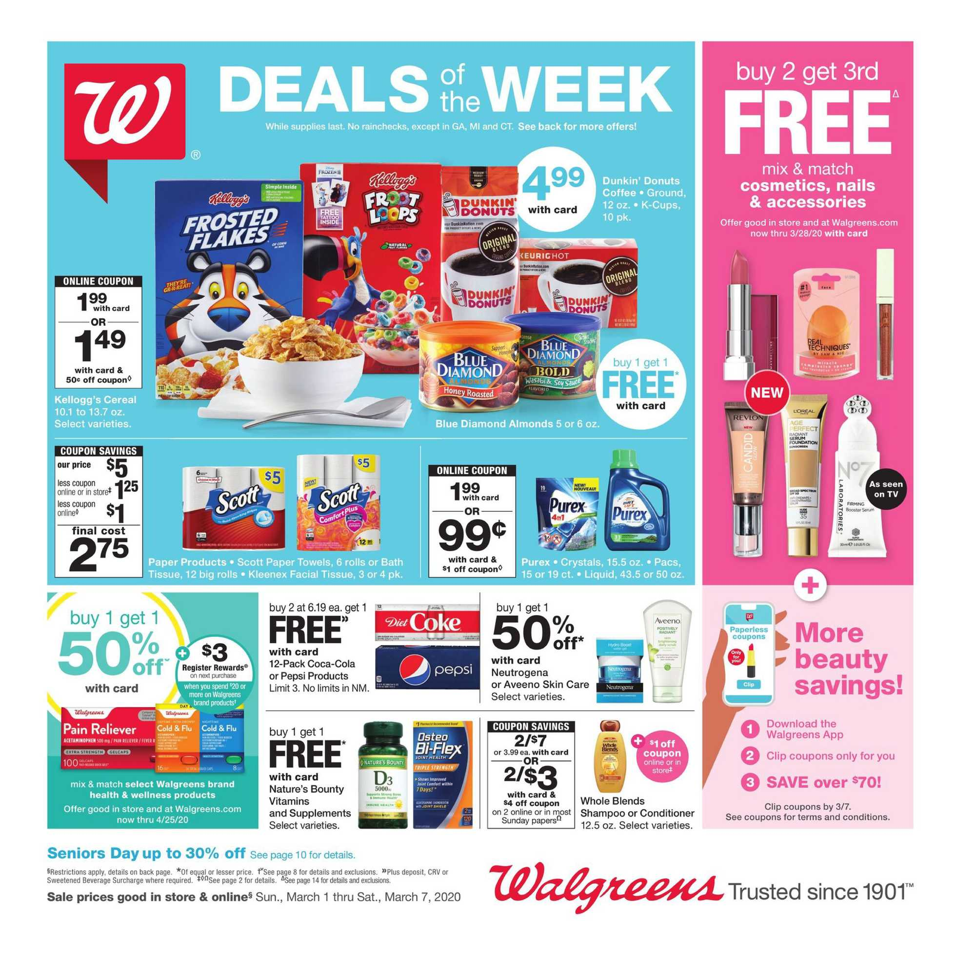 Walgreens - deals are valid from 03/01/20 to 03/07/20 - page 1.