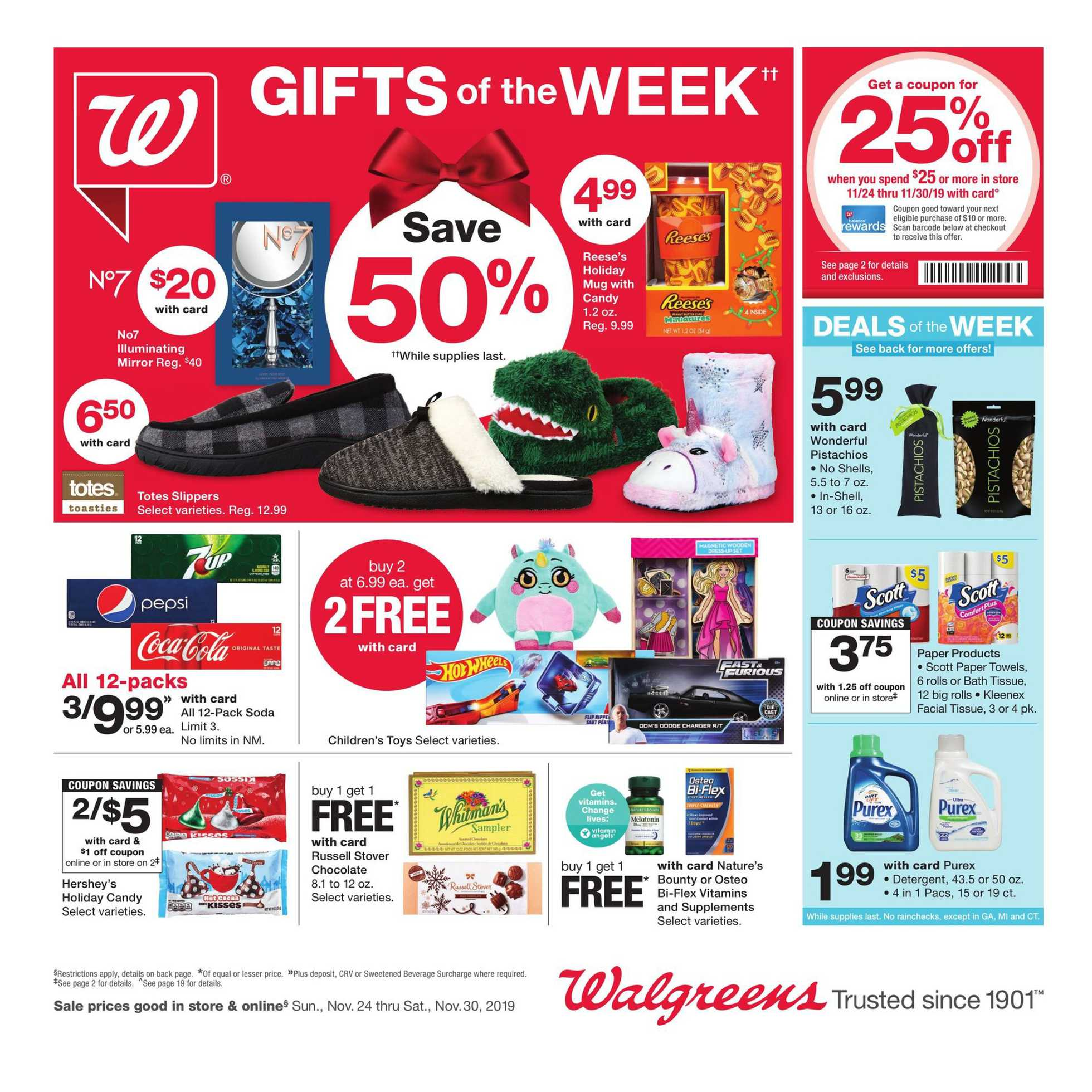 Walgreens - deals are valid from 11/24/19 to 11/30/19 - page 1.