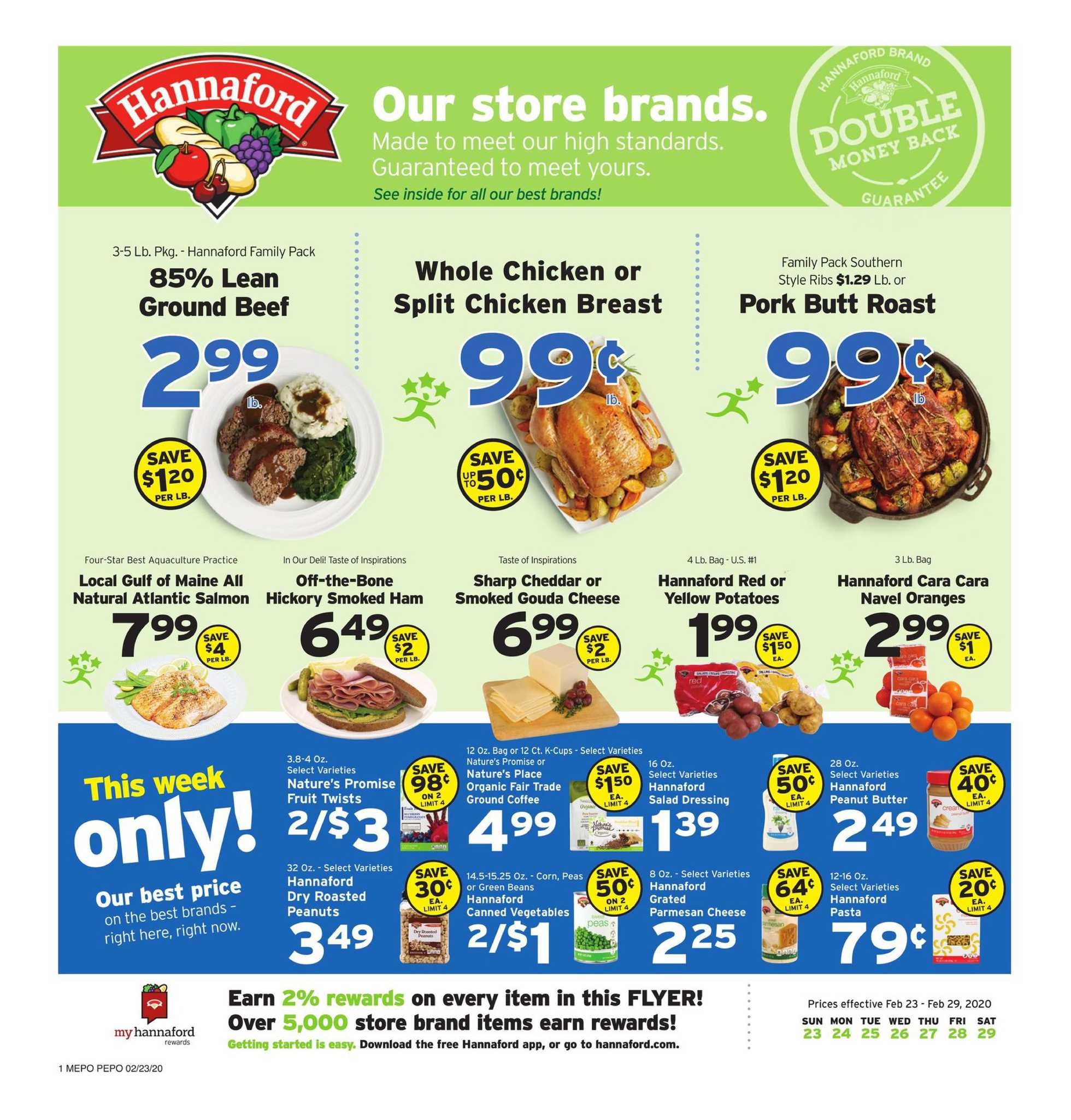 Hannaford - promo starting from 02/23/20 to 02/29/20 - page 1.