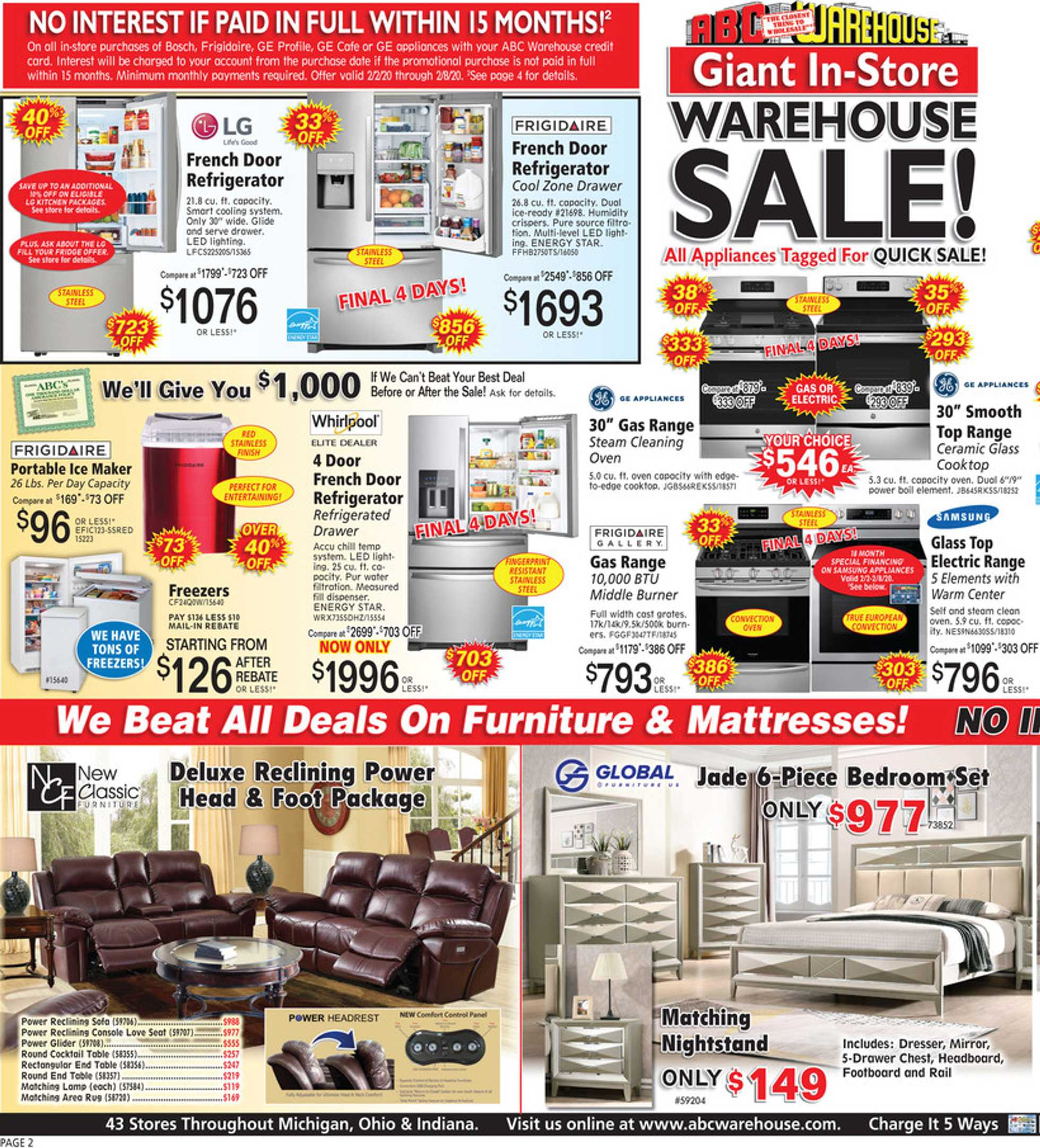 ABC Warehouse - deals are valid from 02/02/20 to 02/08/20 - page 2.