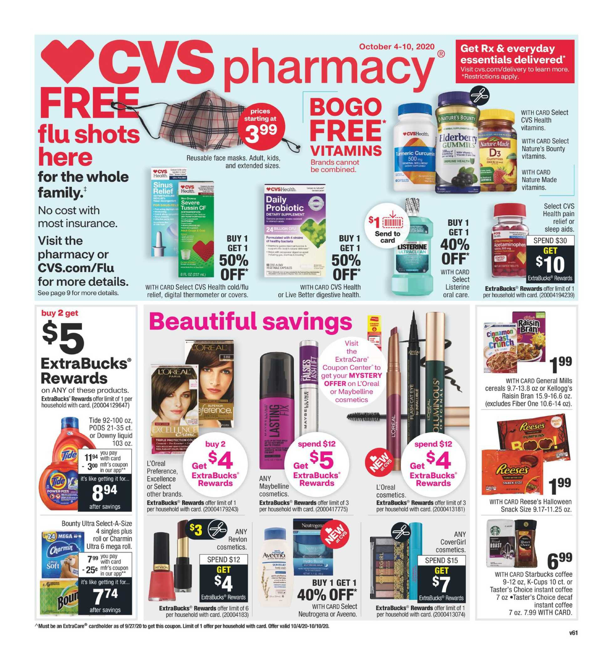 CVS - deals are valid from 10/04/20 to 10/10/20 - page 1.