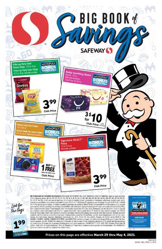 Safeway - deals are valid from 03/29/21 to 05/04/21 - page 1.