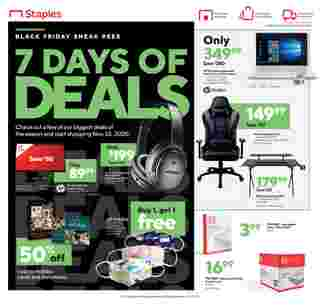 Staples - deals are valid from 11/01/20 to 11/07/20 - page 12.