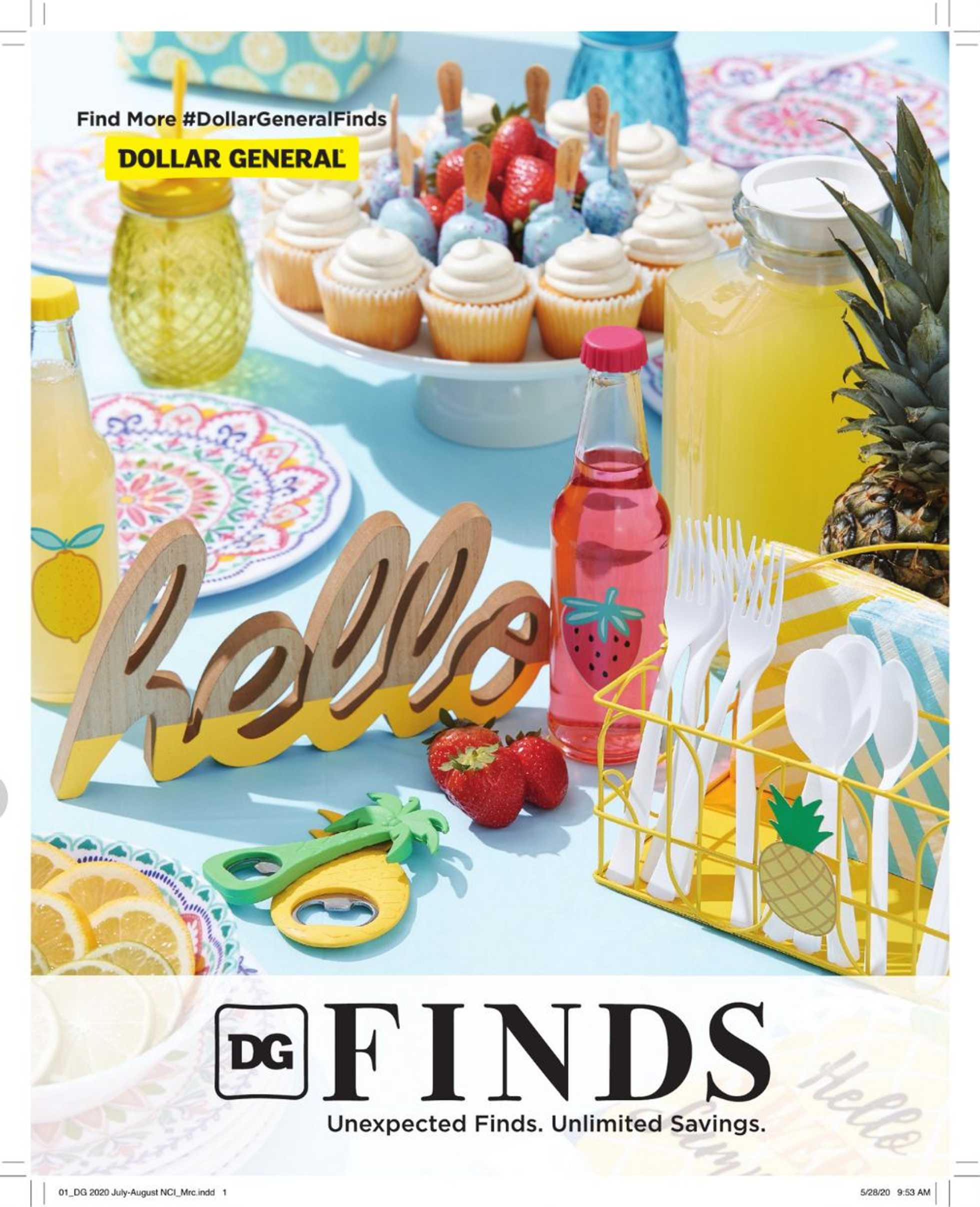 Dollar General - deals are valid from 07/07/20 to 08/27/20 - page 1.