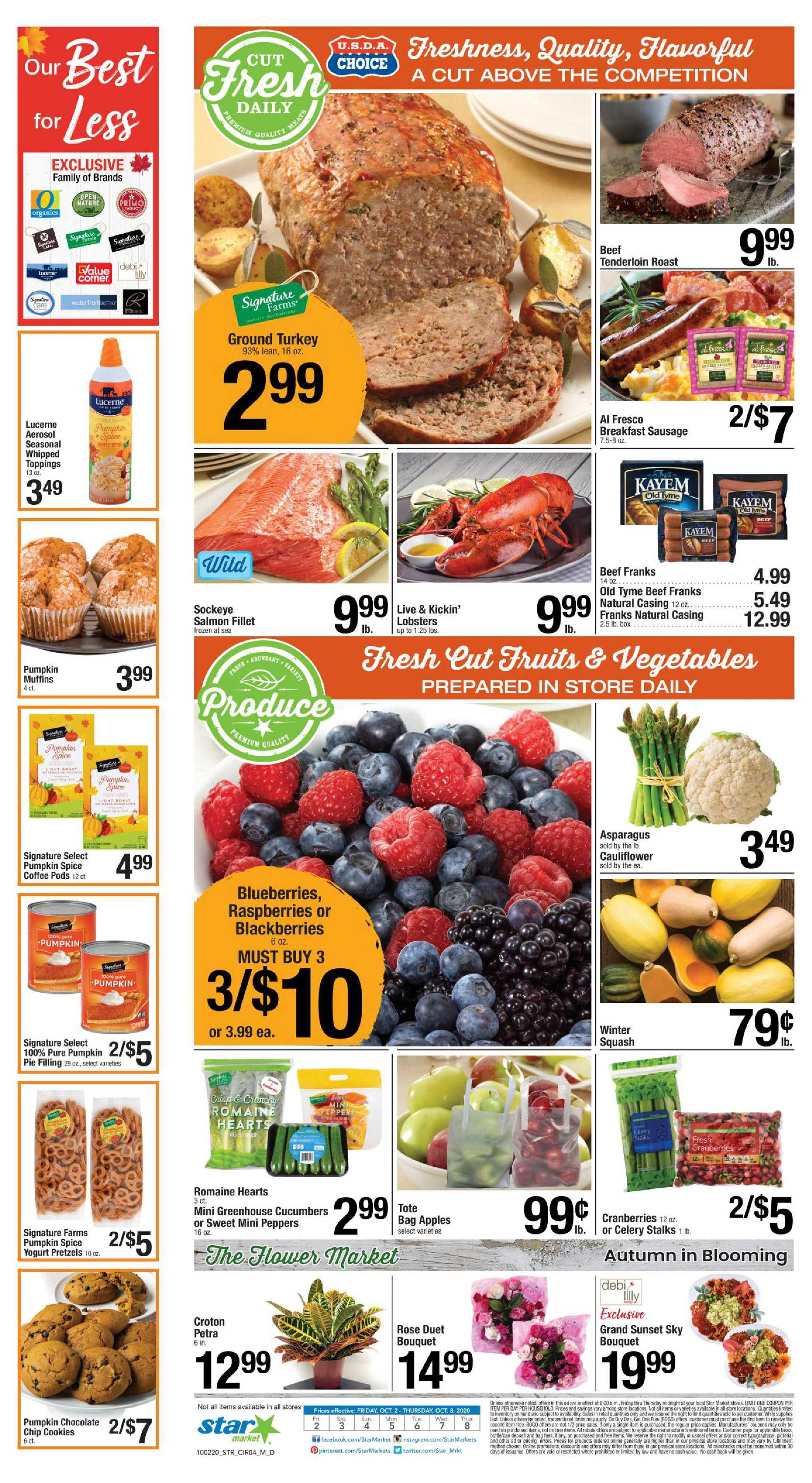 Star Market - deals are valid from 10/02/20 to 10/08/20 - page 3.