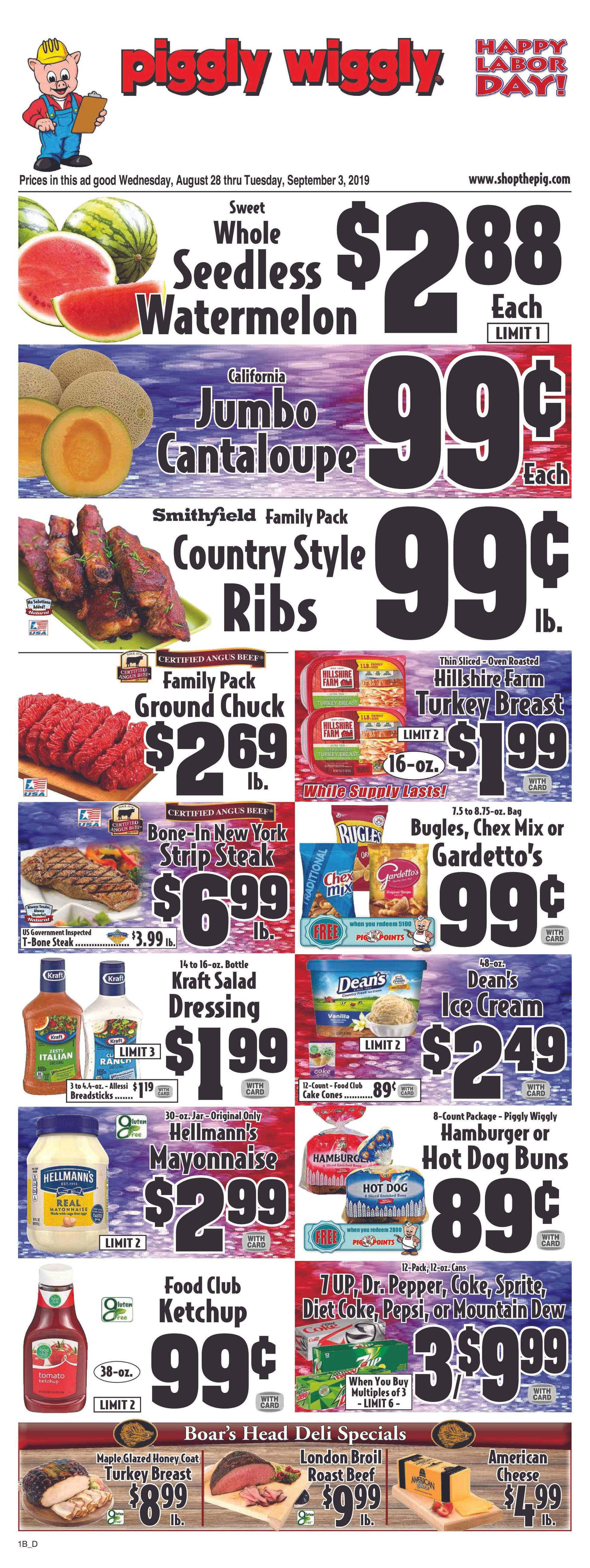 Piggly Wiggly - deals are valid from 08/28/19 to 09/03/19 - page 3.