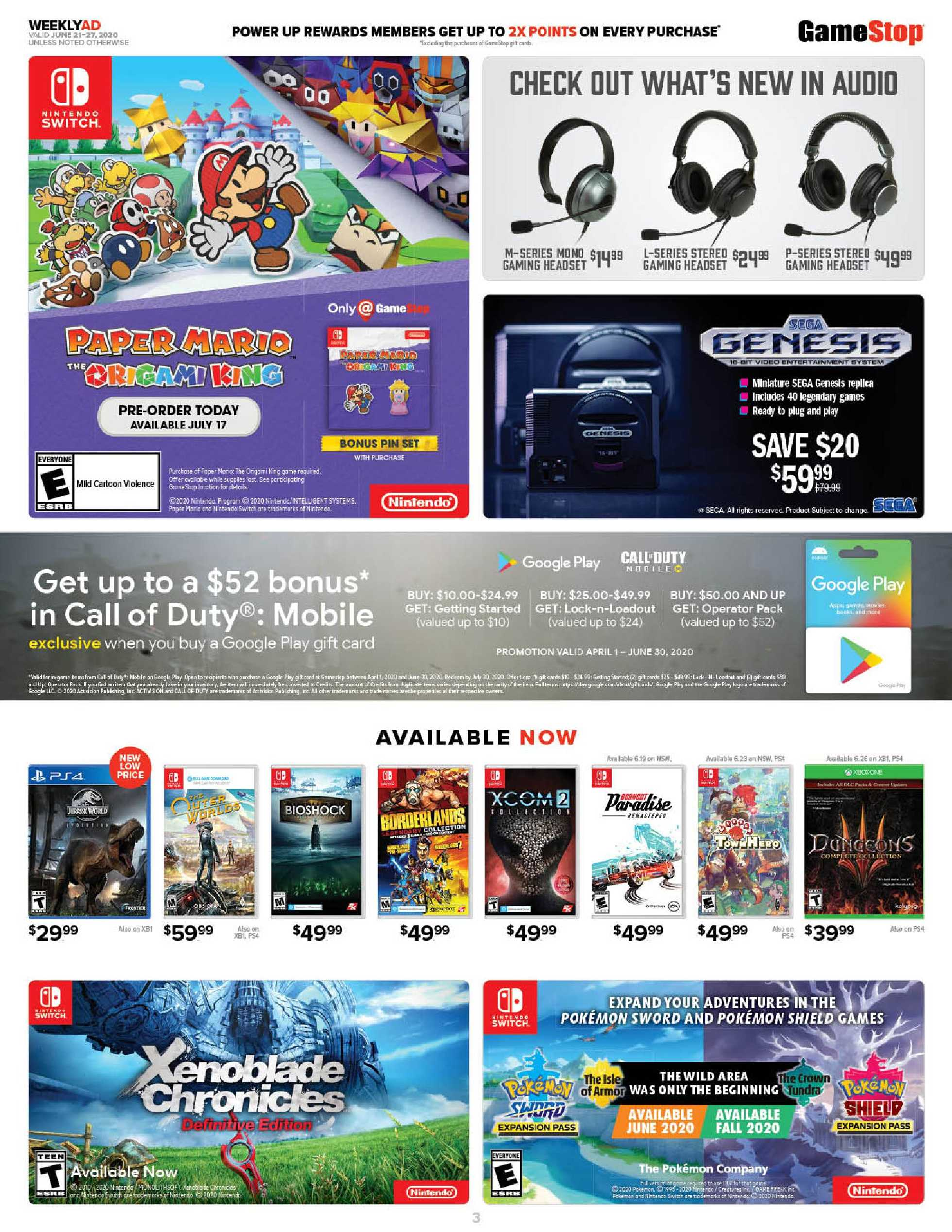 GameStop - deals are valid from 06/21/20 to 06/27/20 - page 3.