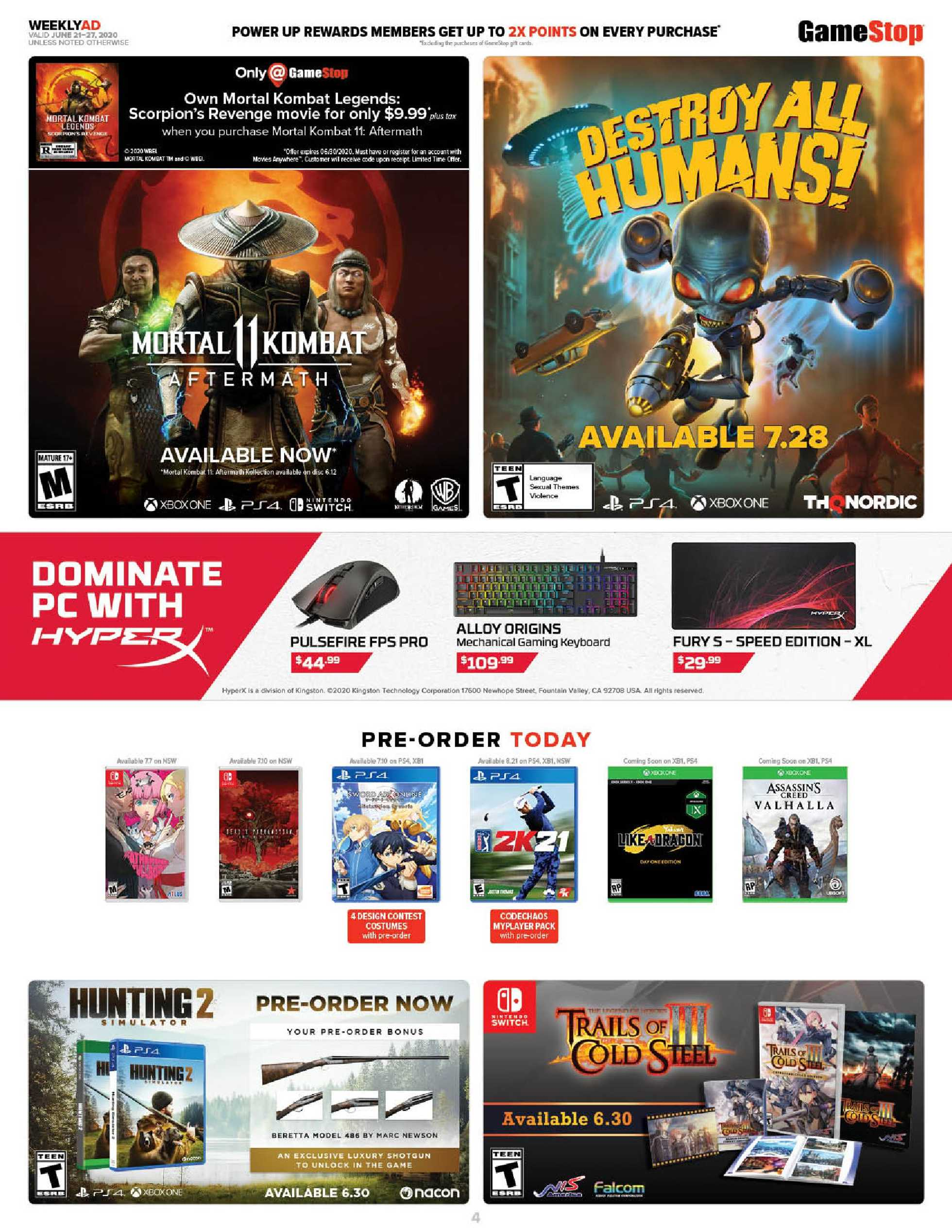 GameStop - deals are valid from 06/21/20 to 06/27/20 - page 4.