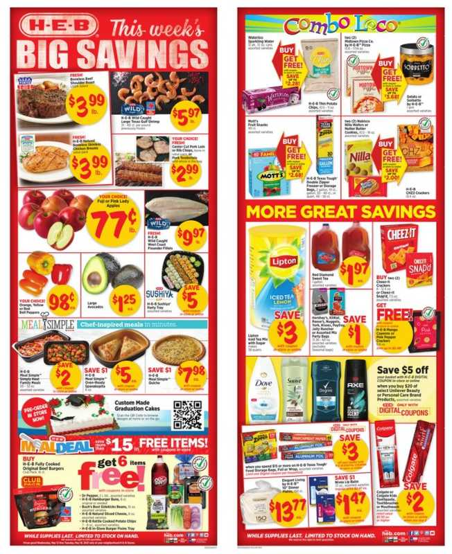 H-E-B - deals are valid from 05/12/21 to 05/18/21 - page 1.