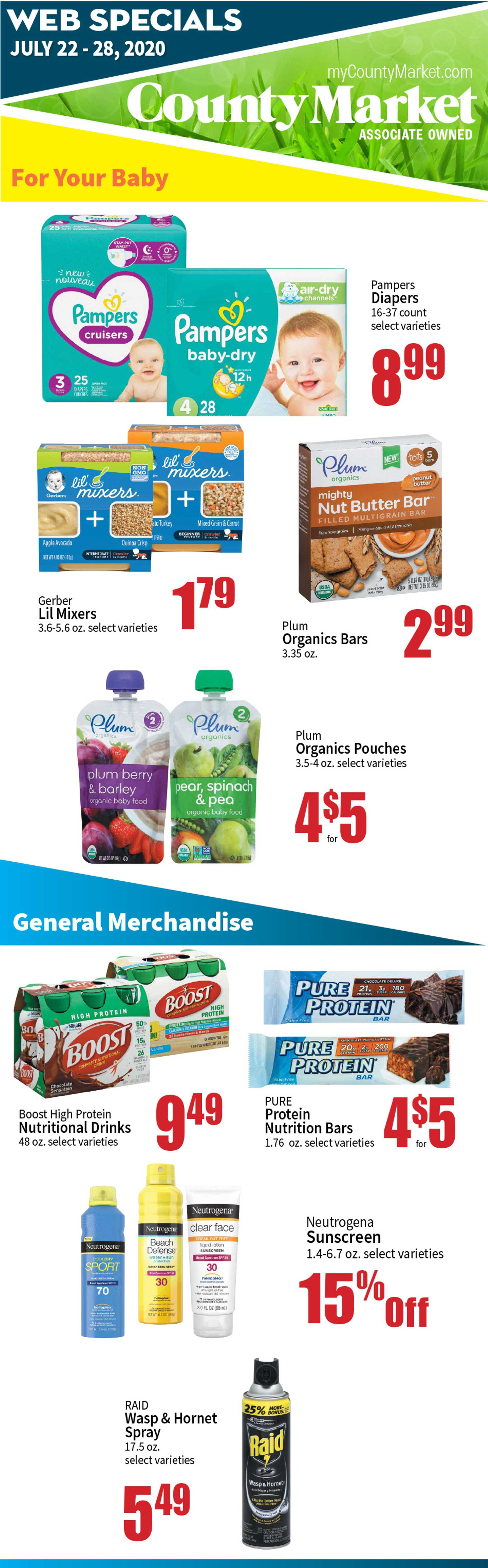 County Market - deals are valid from 07/22/20 to 07/28/20 - page 3.