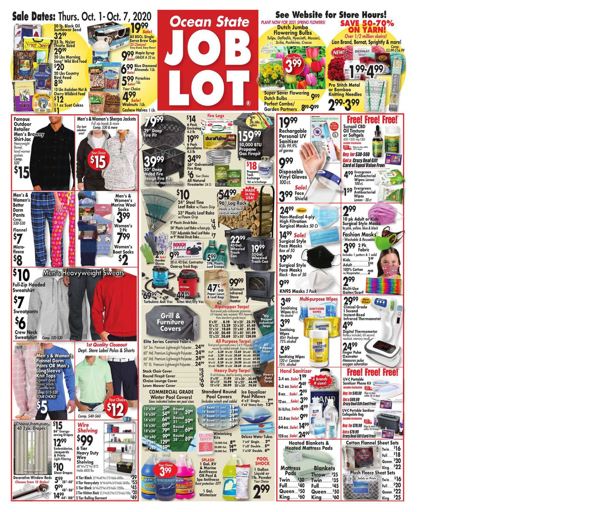Ocean State Job Lot - deals are valid from 10/01/20 to 10/07/20 - page 1.