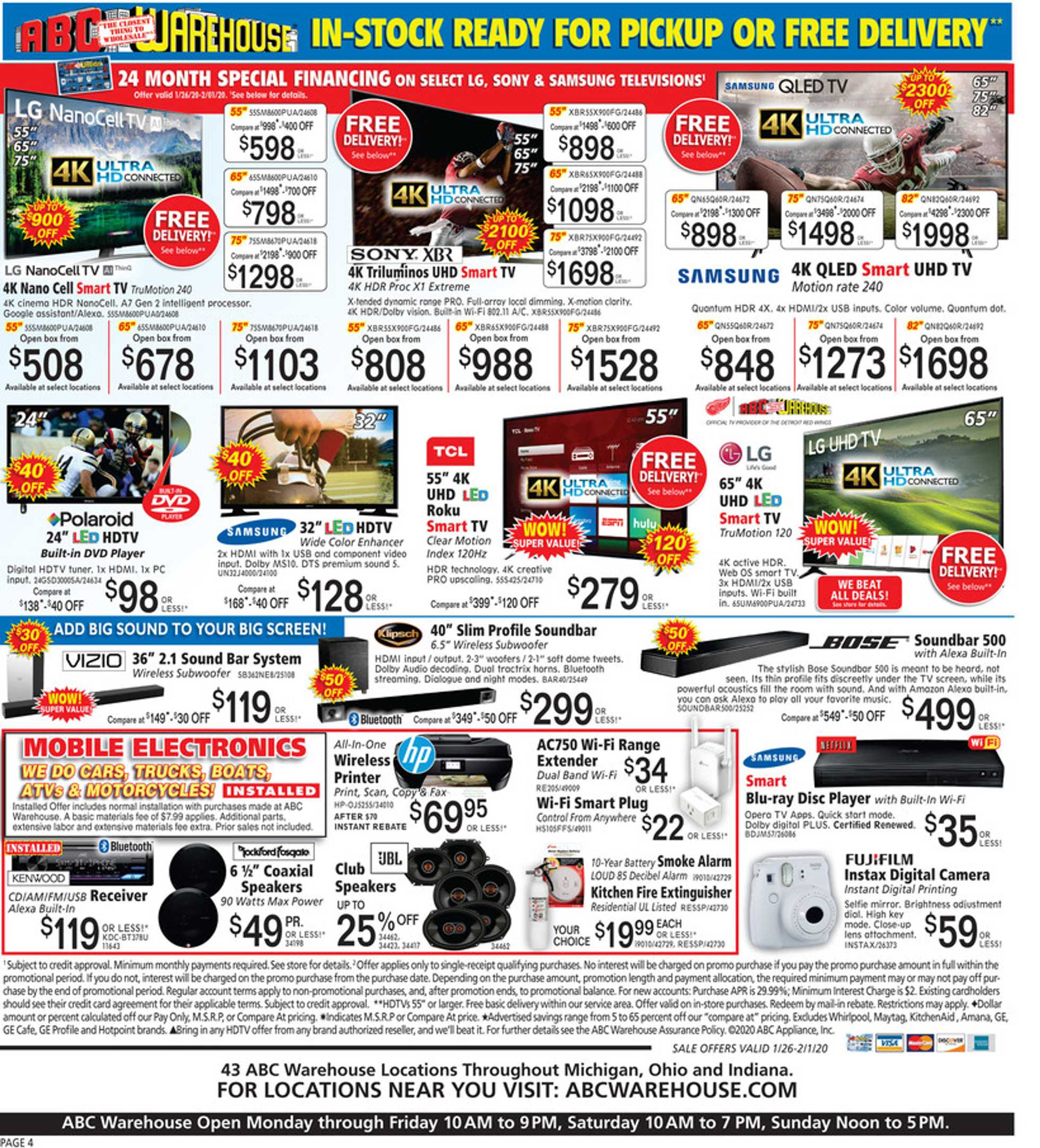 ABC Warehouse - deals are valid from 01/26/20 to 02/01/20 - page 4.