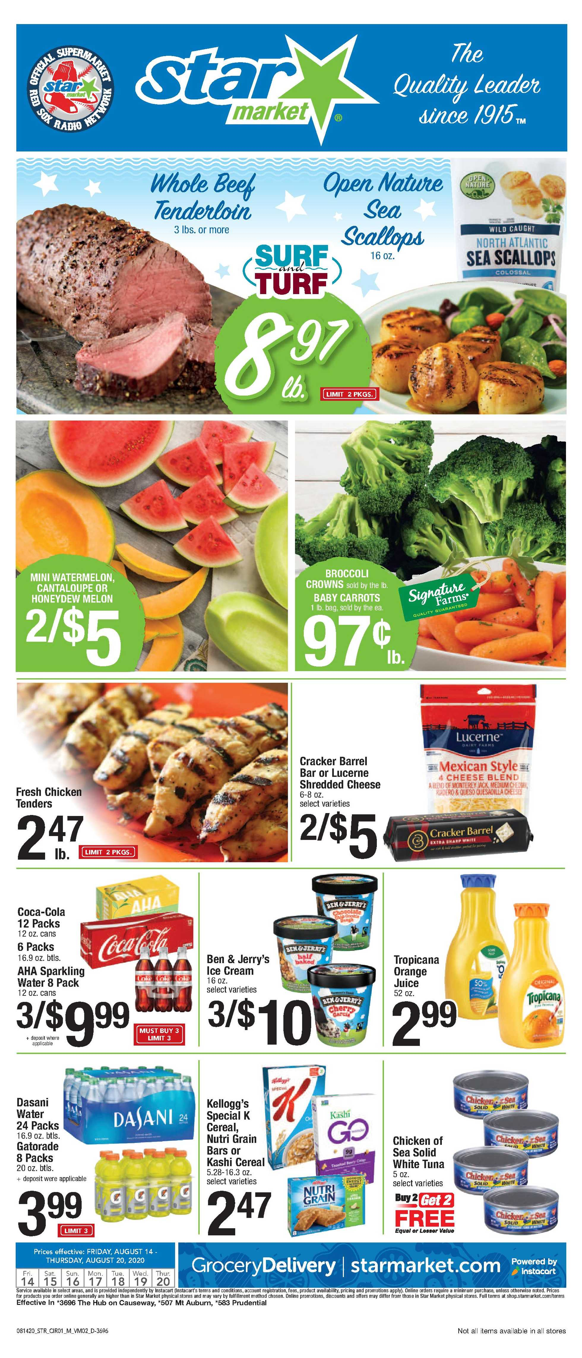 Star Market - deals are valid from 08/14/20 to 08/20/20 - page 1.