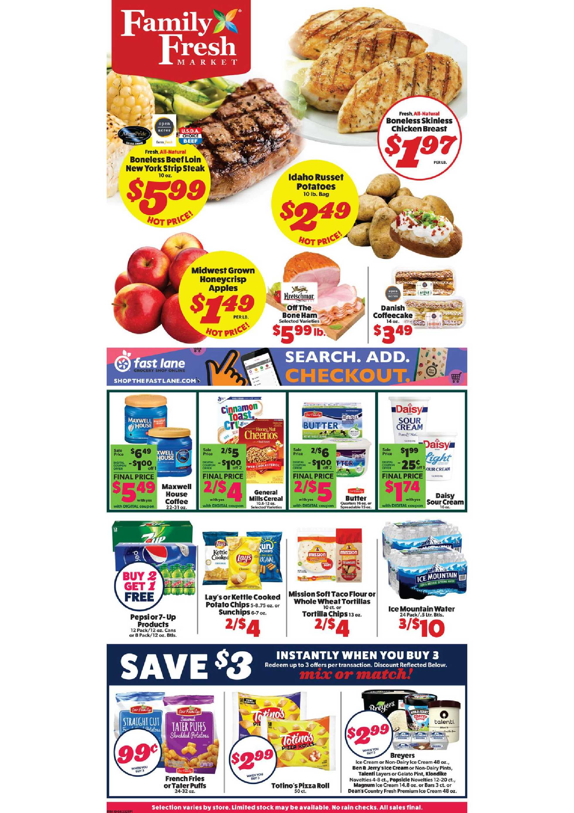 Family Fresh Market - deals are valid from 10/04/20 to 10/10/20 - page 1.
