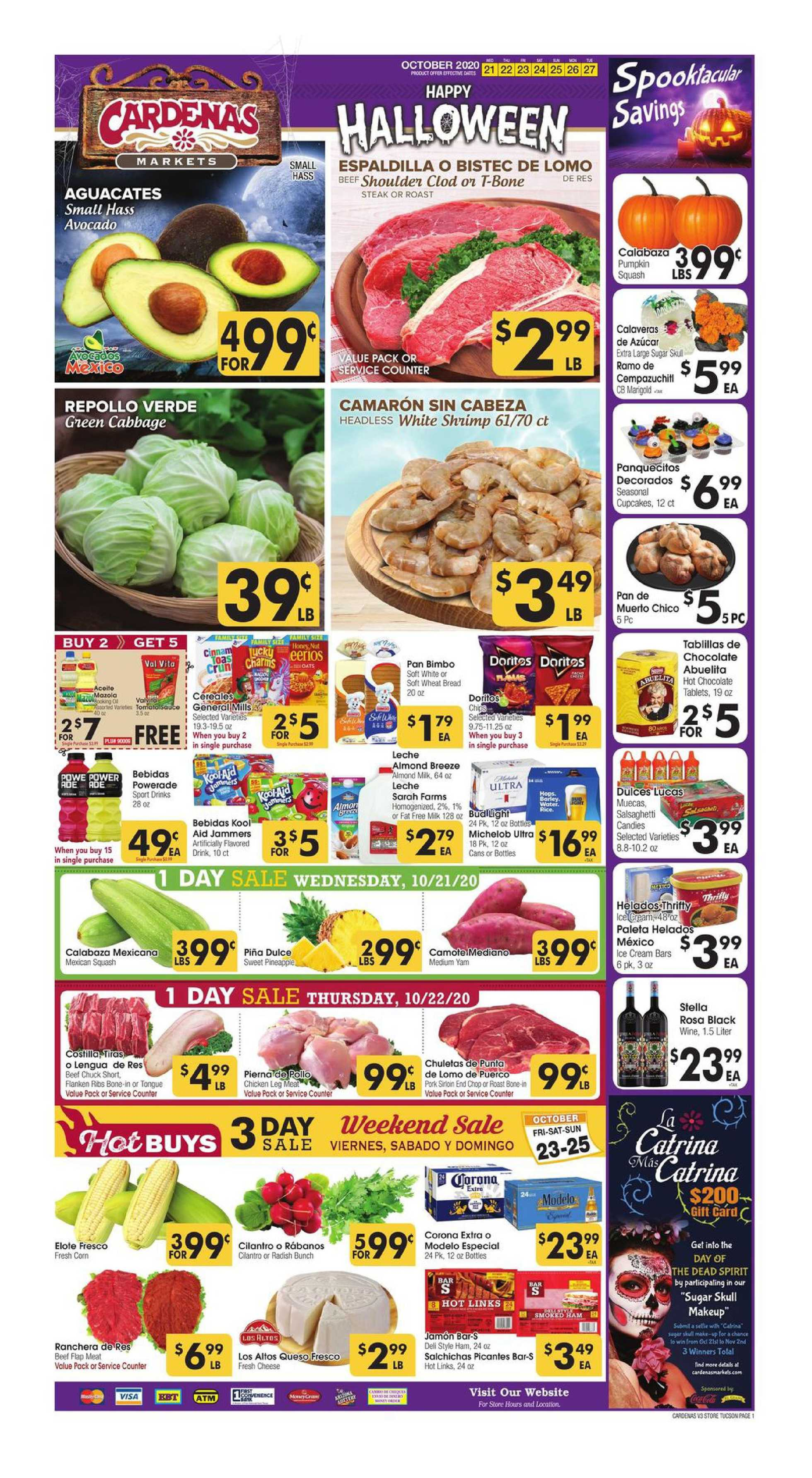 Cardenas - deals are valid from 10/21/20 to 10/27/20 - page 1.