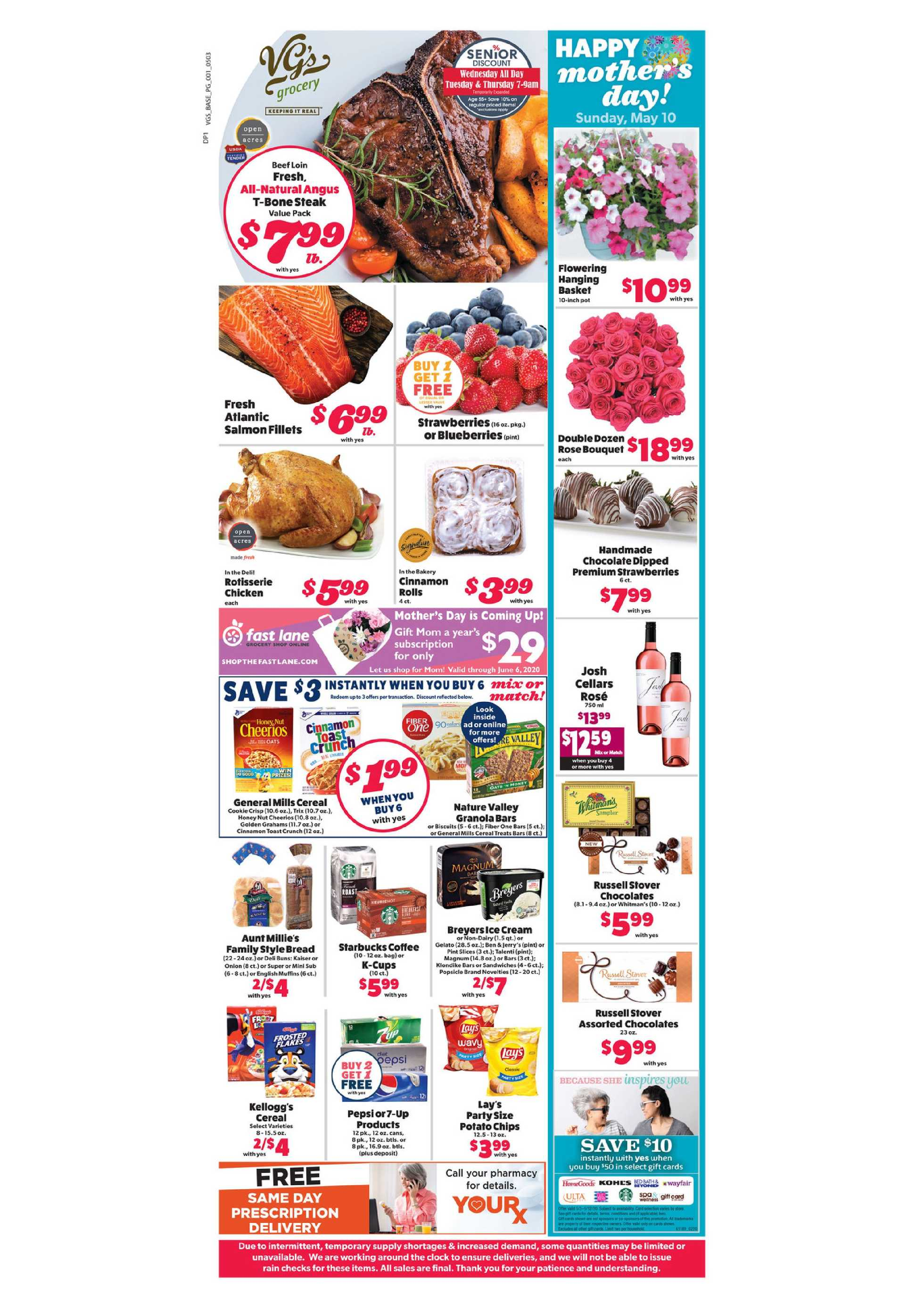 VG's Grocery - deals are valid from 05/03/20 to 05/09/20 - page 1.