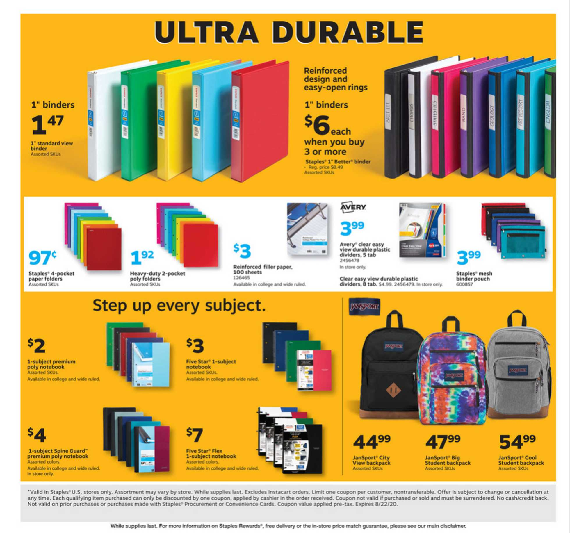 Staples - deals are valid from 08/09/20 to 08/15/20 - page 3.