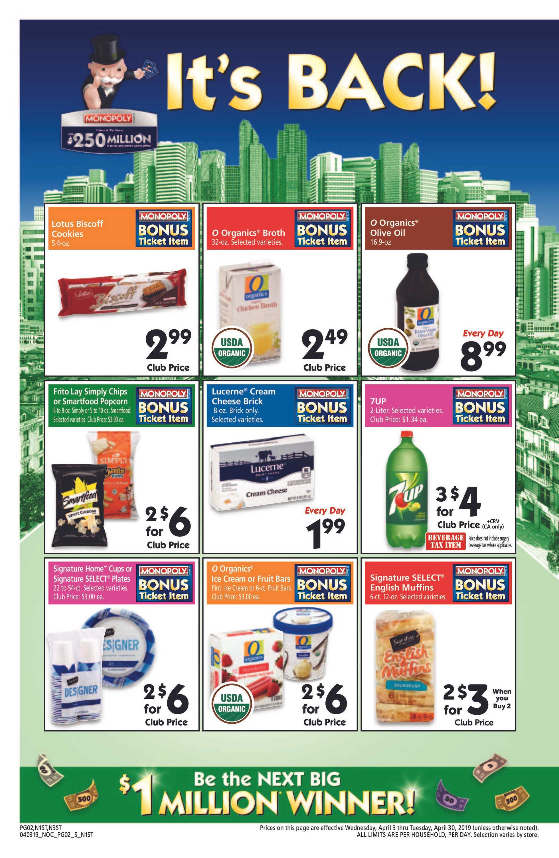 Safeway - deals are valid from 04/03/19 to 04/30/19 - page 2.