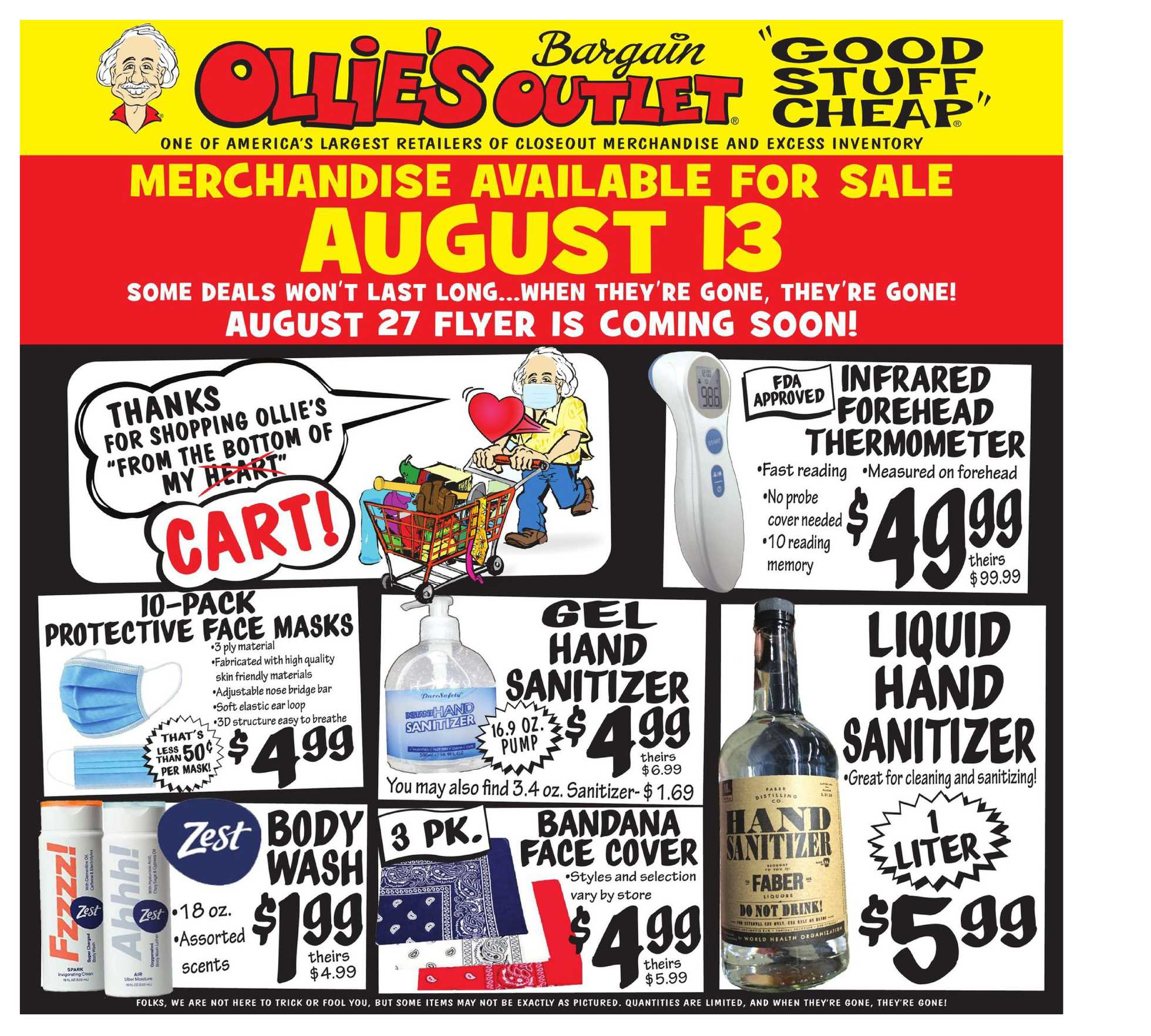 Ollie's Bargain Outlet - deals are valid from 08/13/20 to 08/19/20 - page 1.