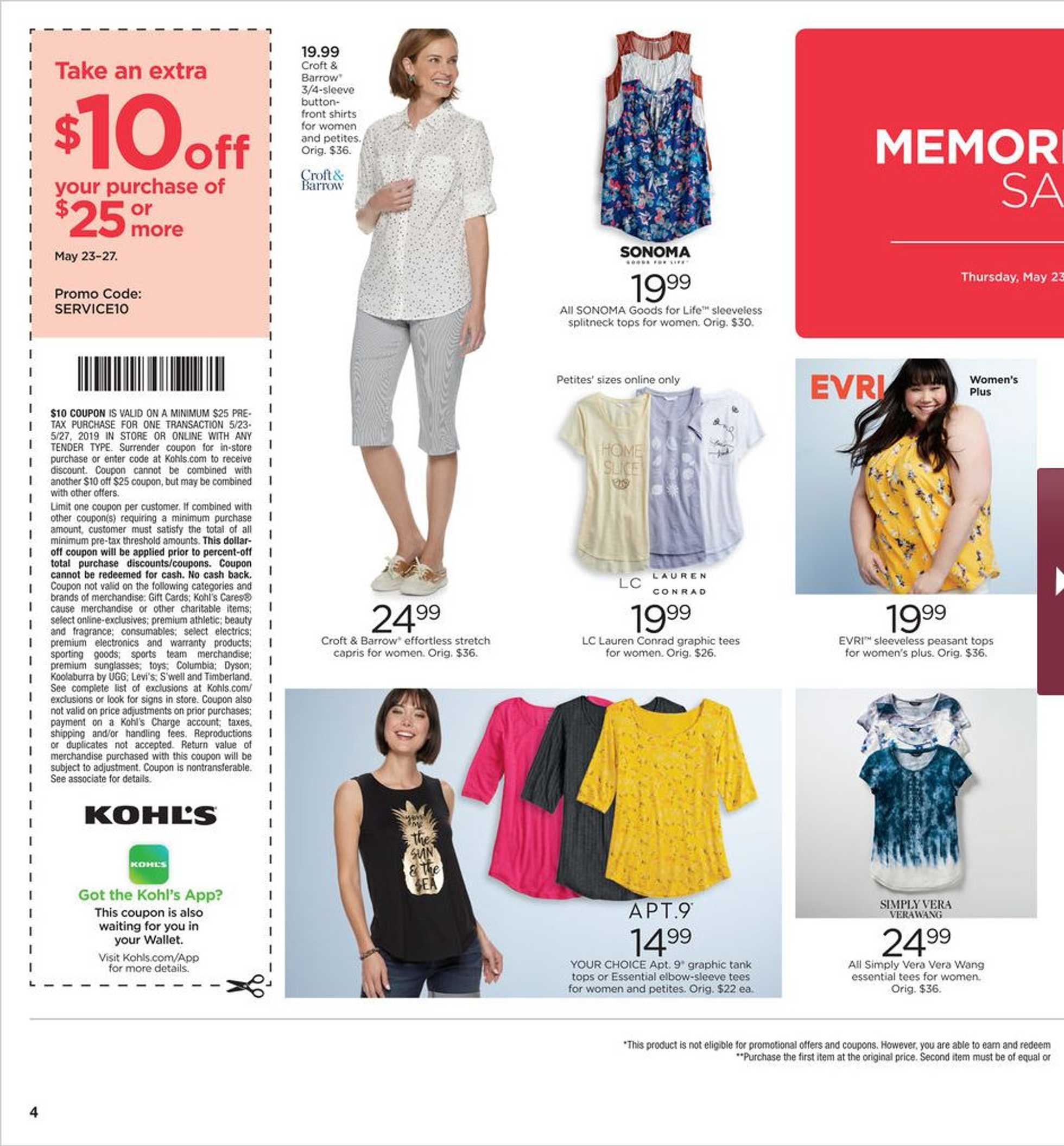 Kohl's - deals are valid from 05/23/19 to 05/27/19 - page 4.