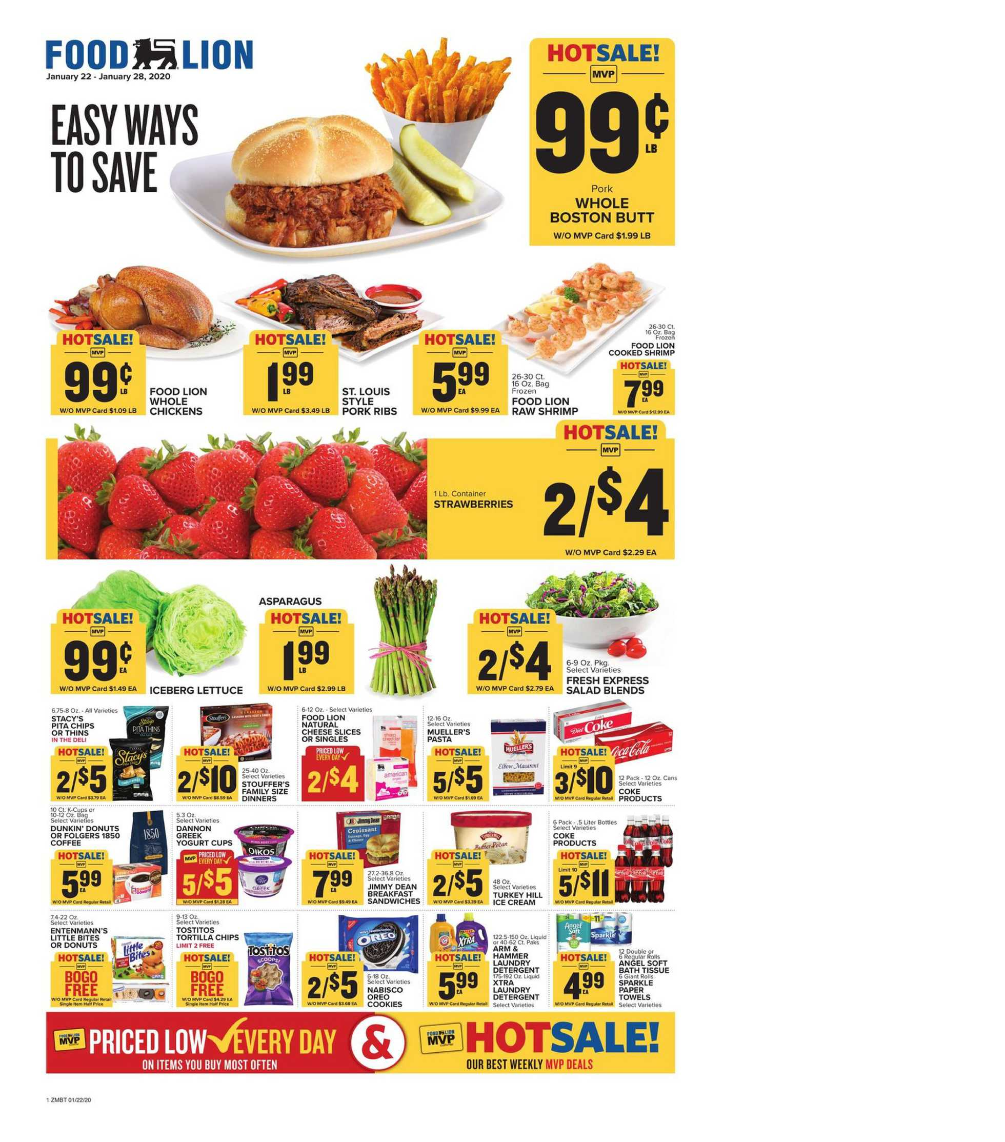 Food Lion - promo starting from 01/22/20 to 01/28/20 - page 1.