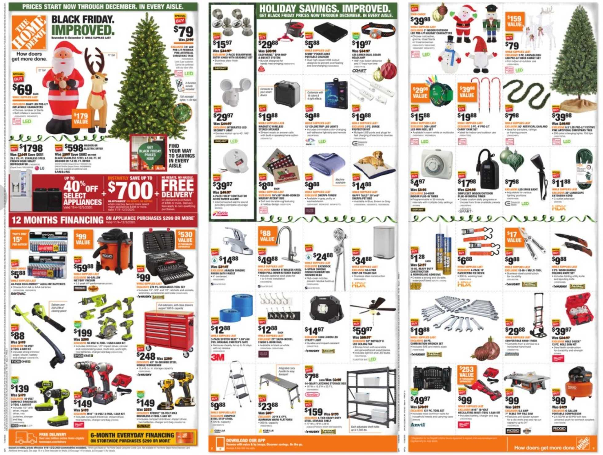 The Home Depot - deals are valid from 11/08/20 to 12/02/20 - page 1.