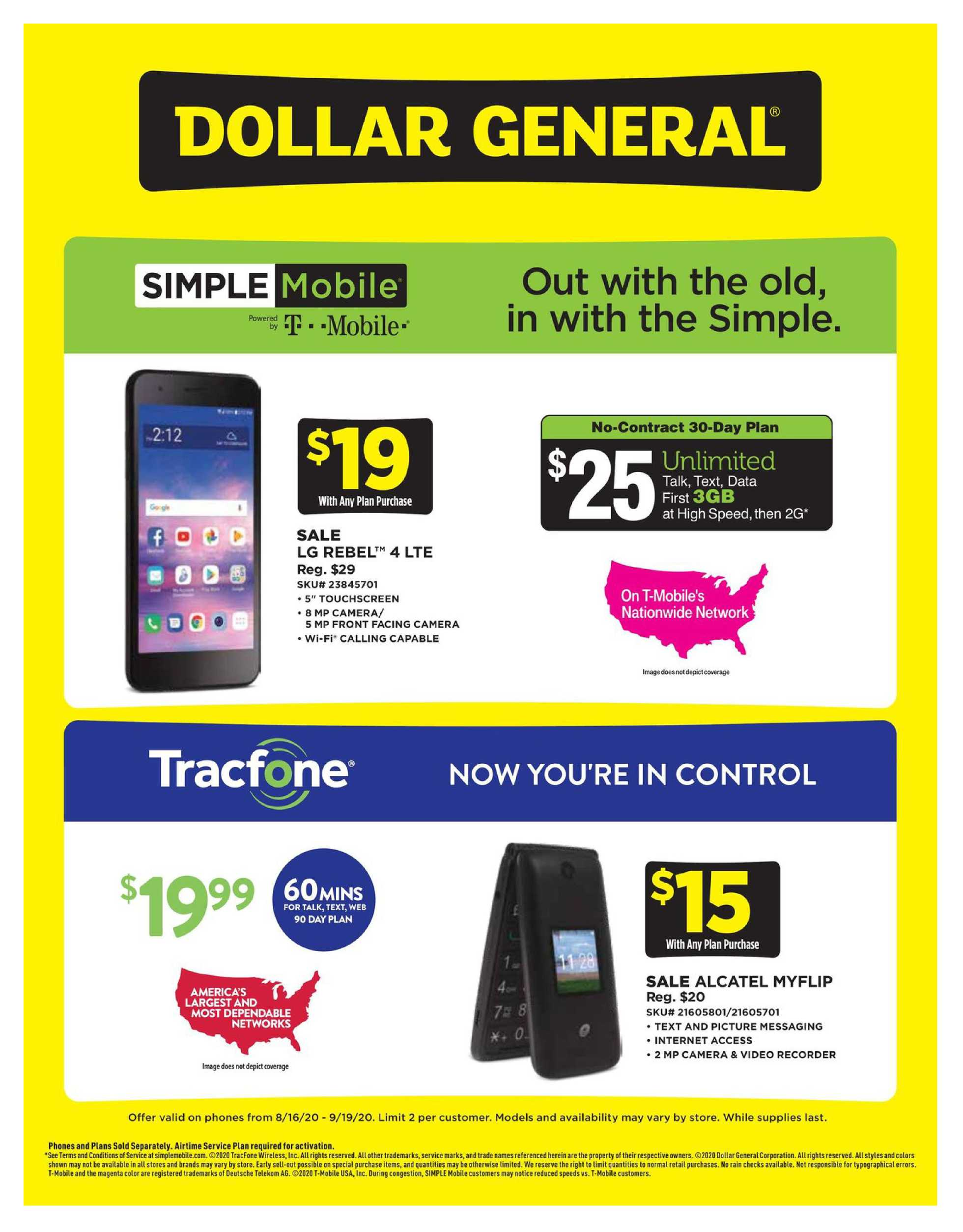 Dollar General - deals are valid from 08/16/20 to 09/19/20 - page 1.