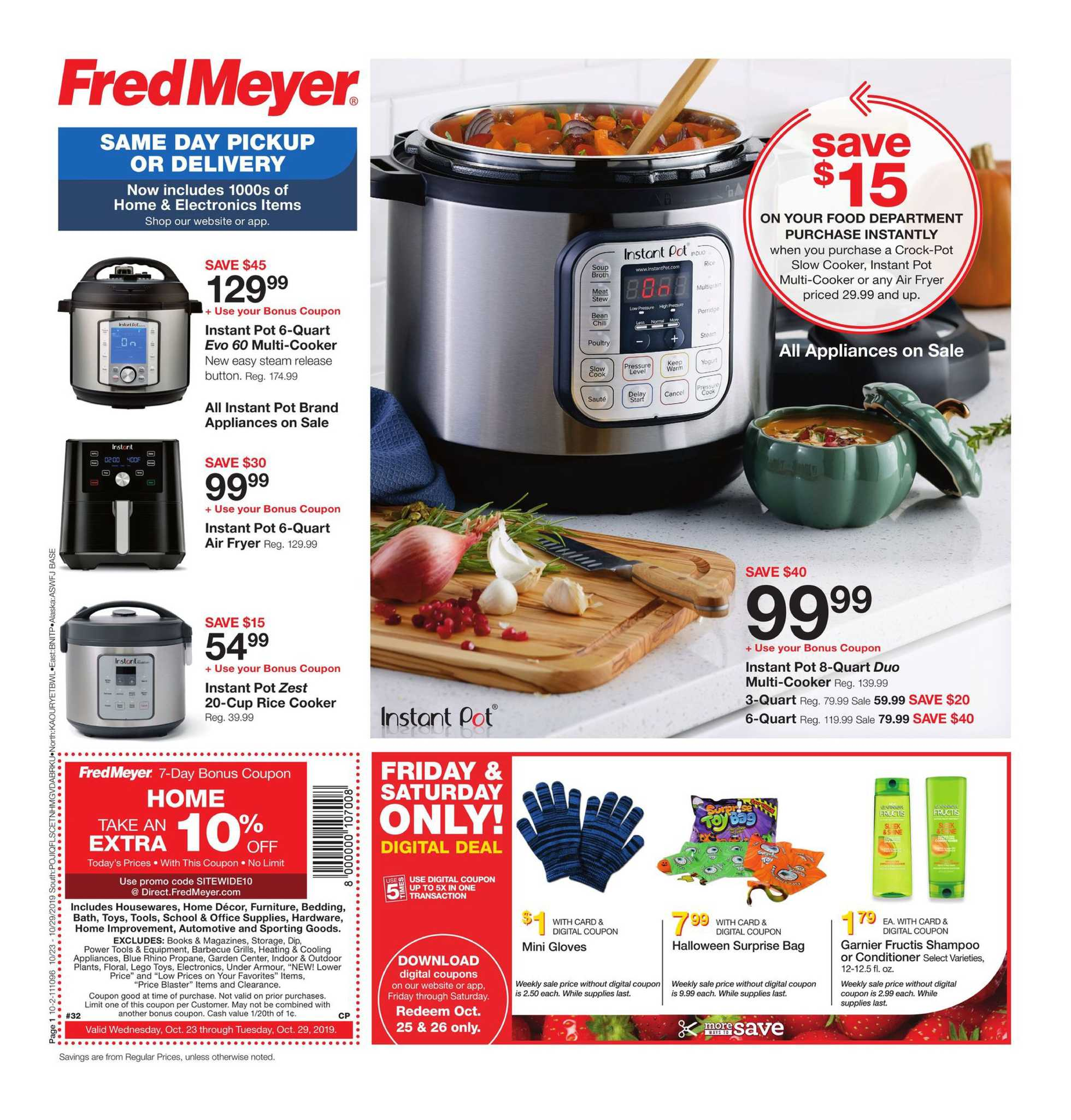 Fred Meyer - deals are valid from 10/23/19 to 10/29/19 - page 1.