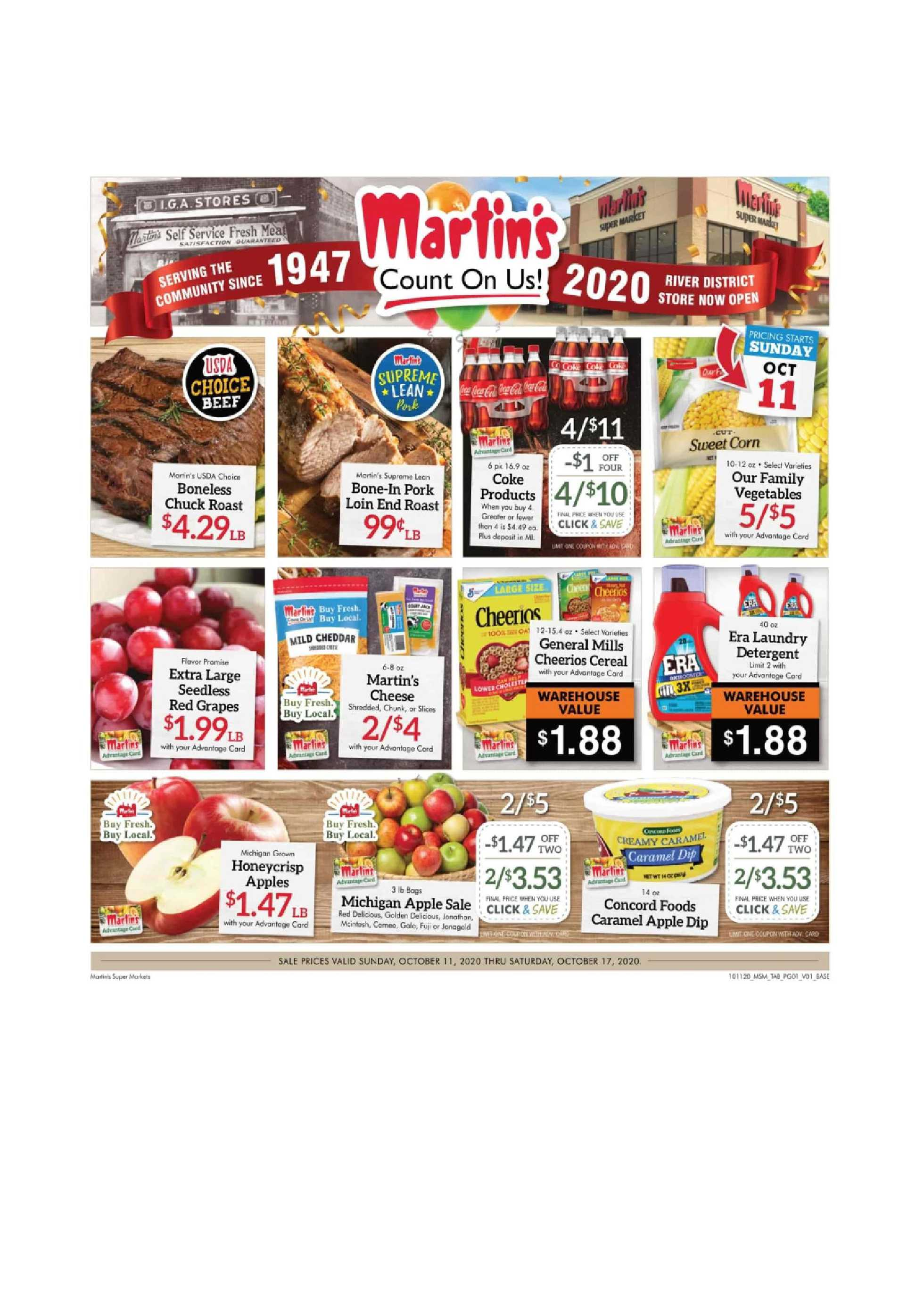 Martin's - deals are valid from 10/11/20 to 10/17/20 - page 1.