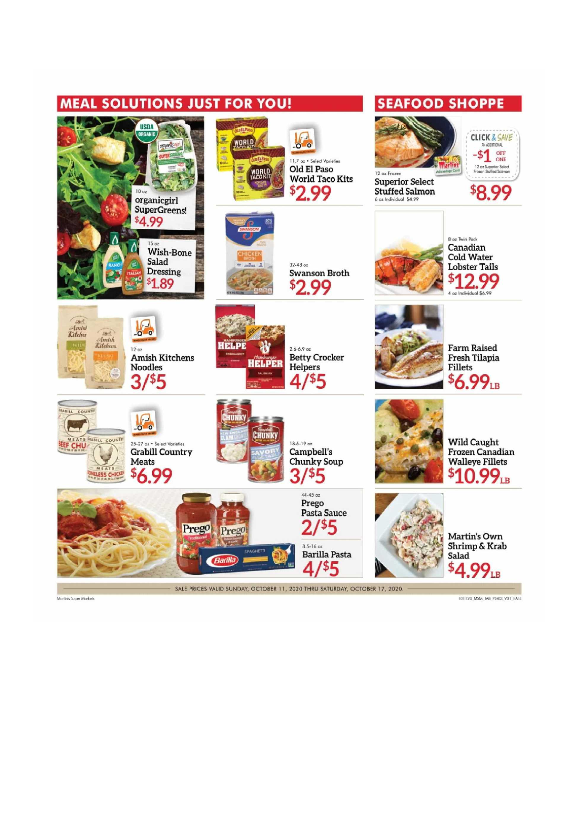 Martin's - deals are valid from 10/11/20 to 10/17/20 - page 3.