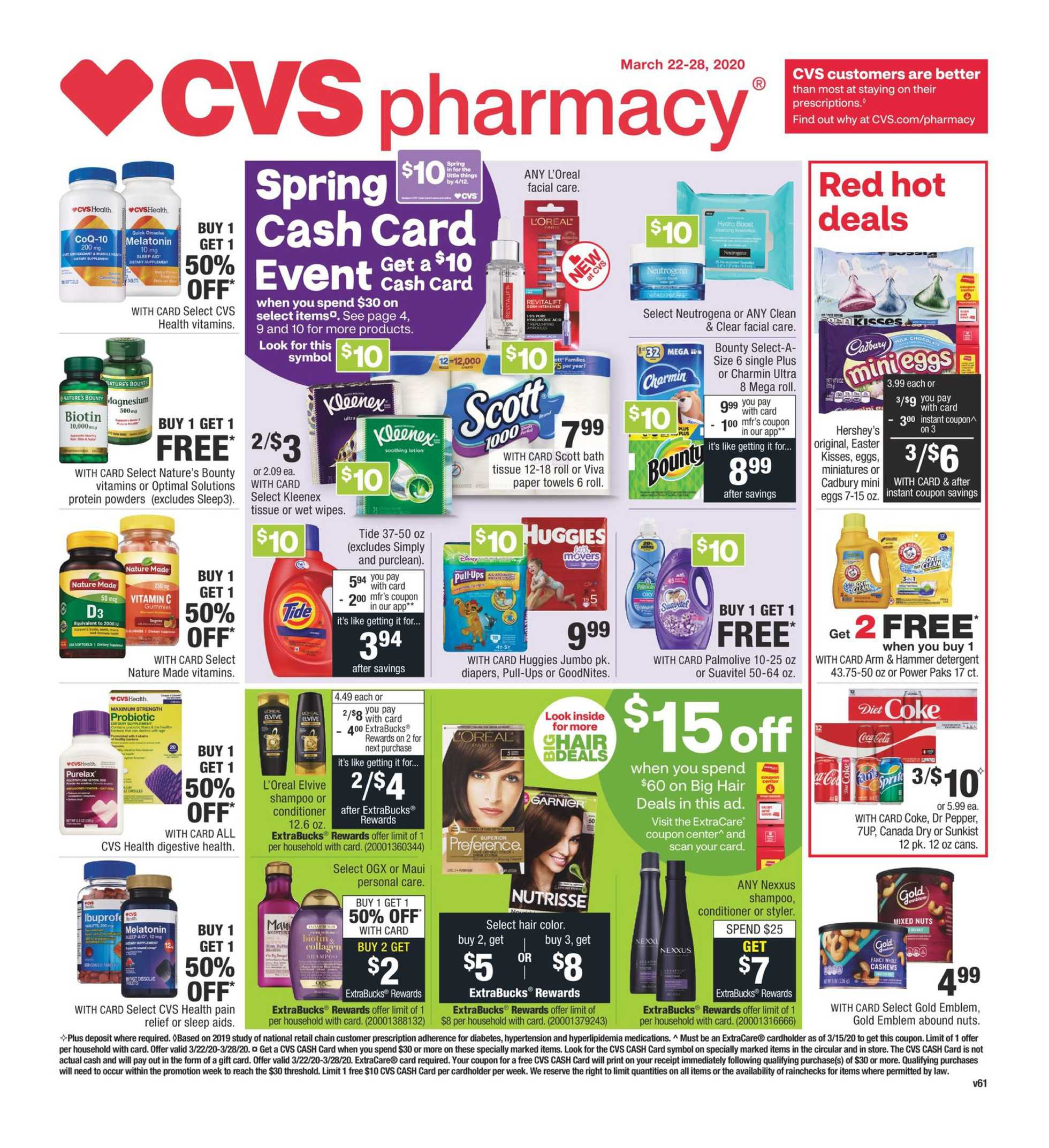 CVS - deals are valid from 03/22/20 to 03/28/20 - page 1.