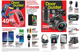 Target - promo starting from 11/28/19 to 11/30/19 - page 5. The promotion includes google, rea, tracfone